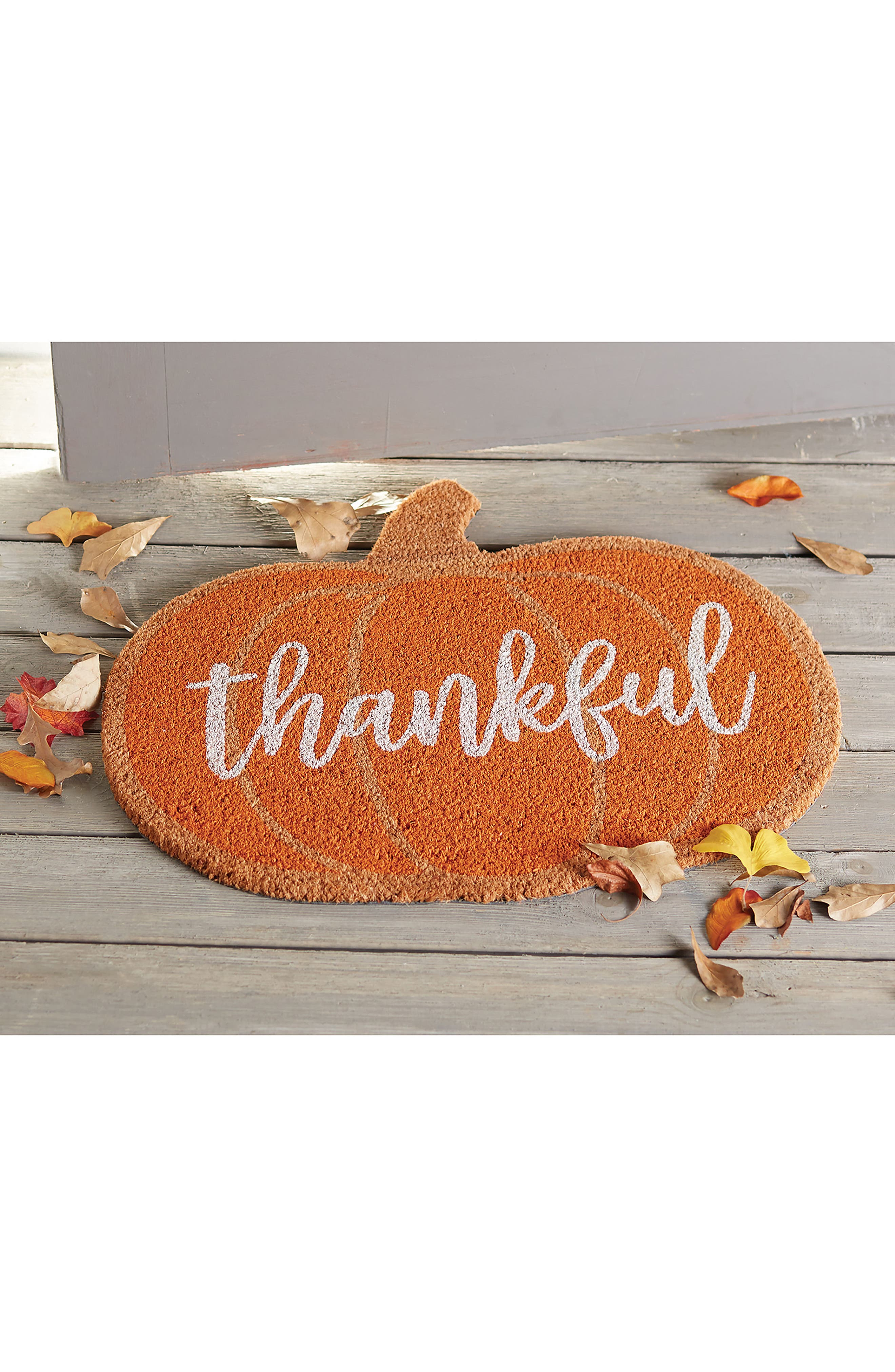 Thankful Coir Doormat,                             Alternate thumbnail 2, color,                             200