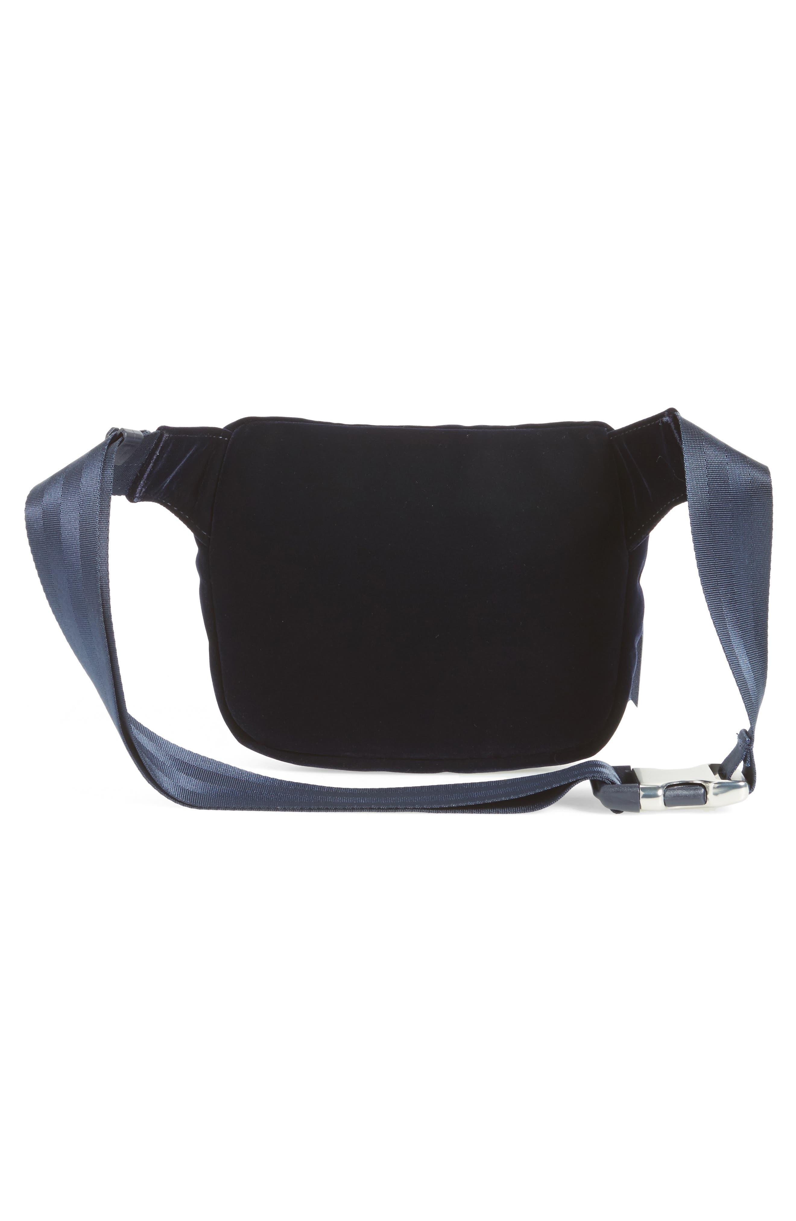 Fifteen Velvet Belt Bag,                             Alternate thumbnail 3, color,                             400
