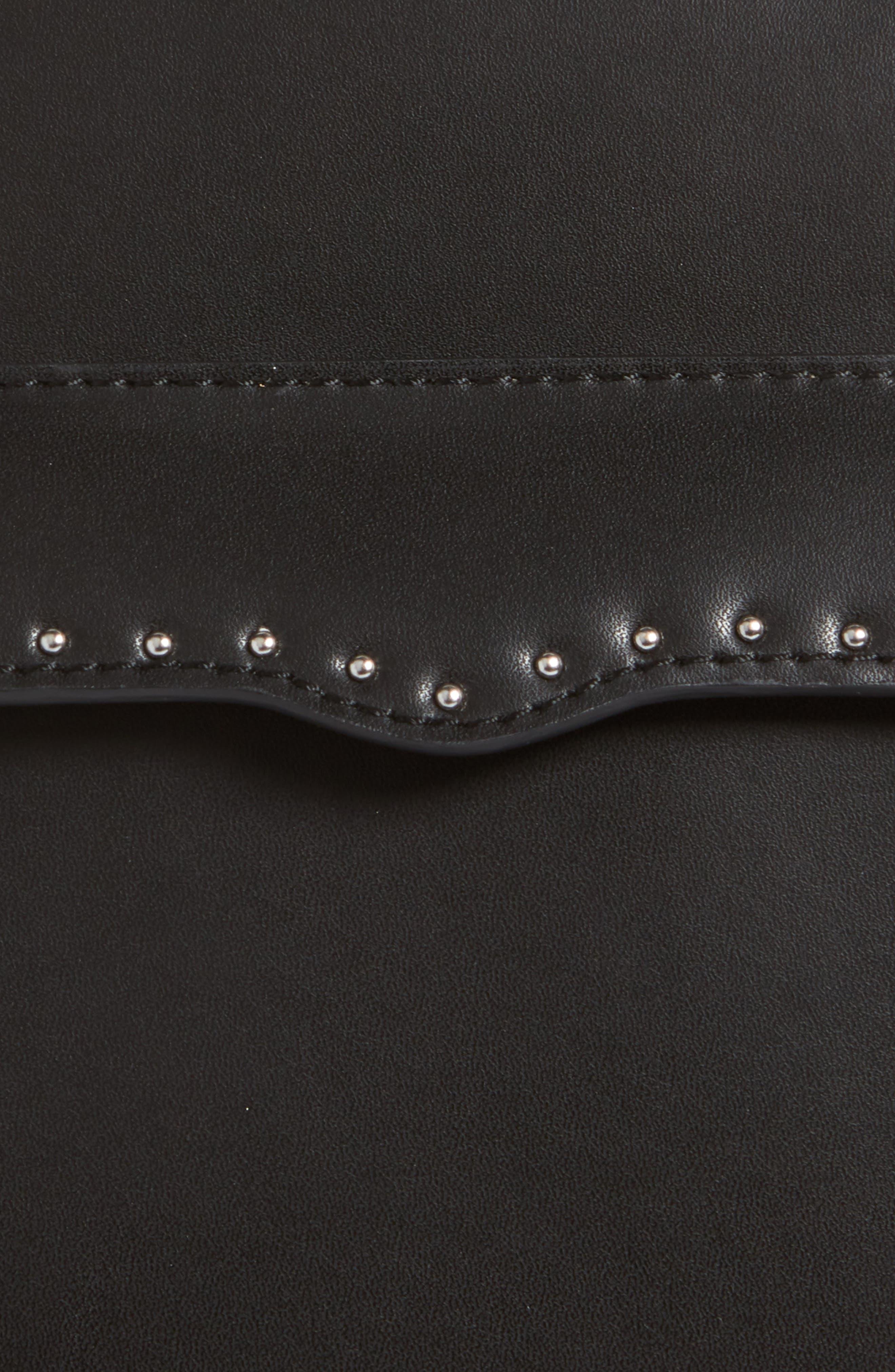 Lucy Leather Belt Bag,                             Alternate thumbnail 3, color,                             BLACK