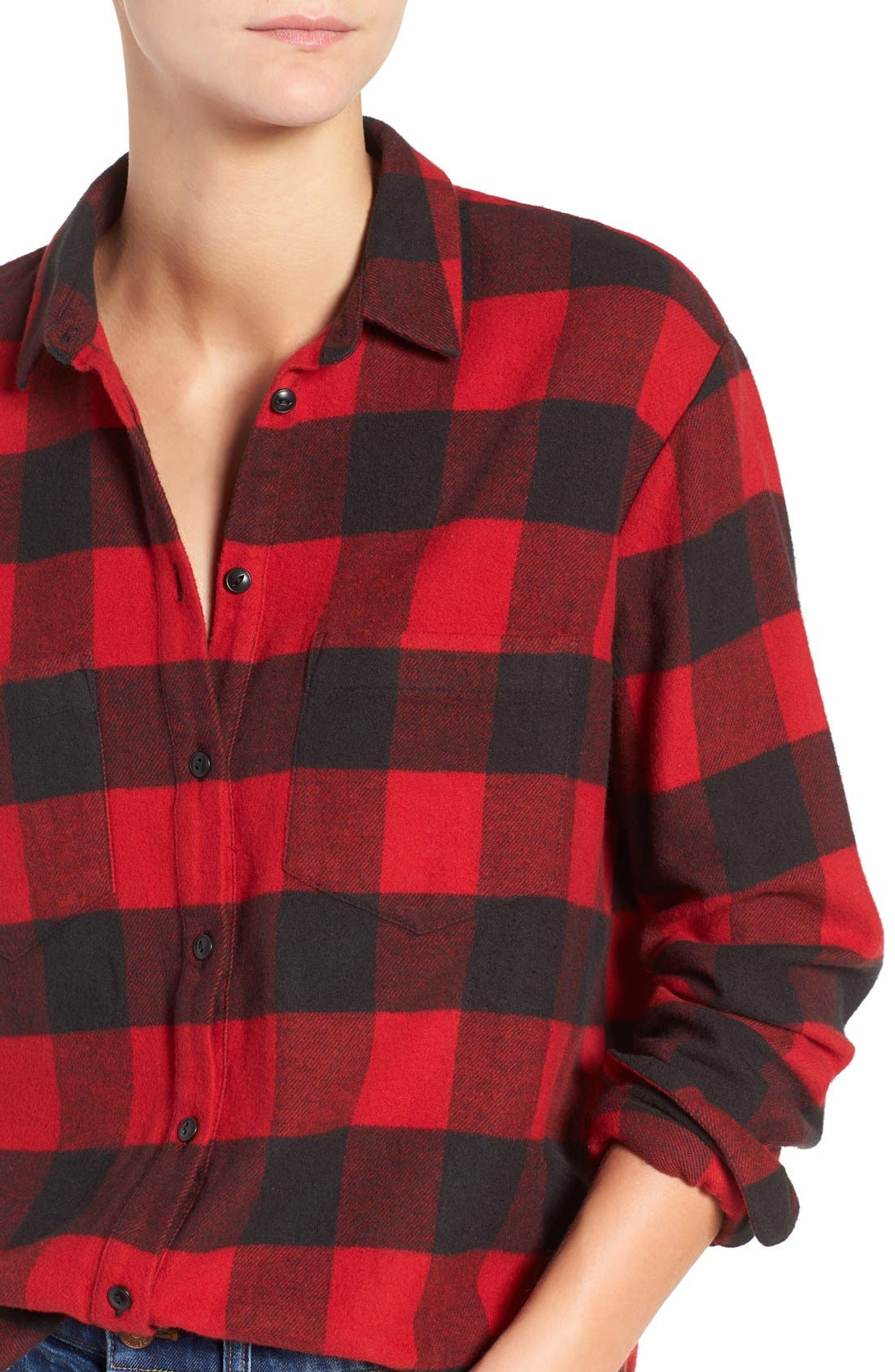 Ex-Boyfriend Oversize Boyfriend Shirt,                             Alternate thumbnail 6, color,