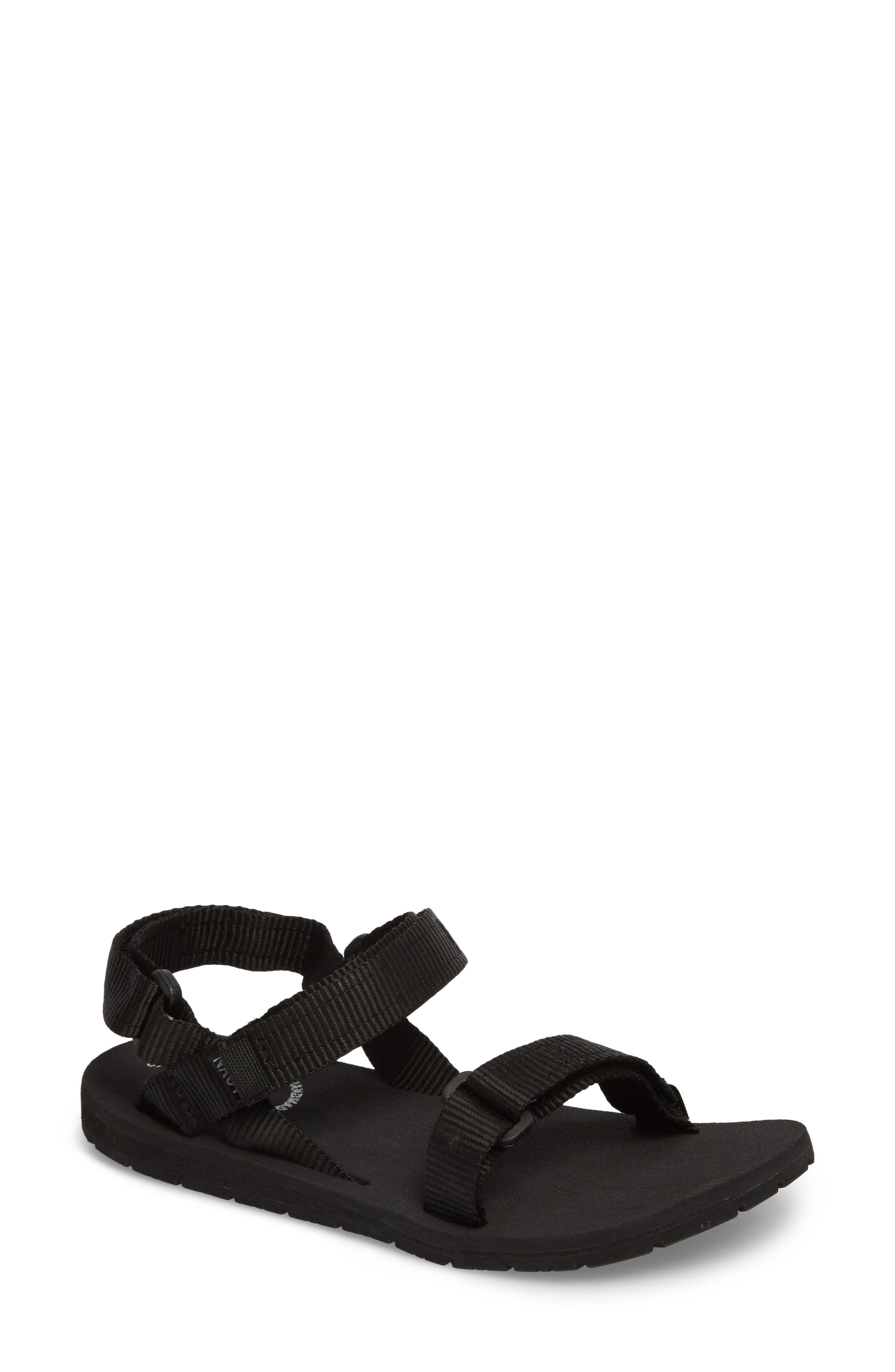 Haven Waterproof Sandal,                             Main thumbnail 1, color,                             BLACK FABRIC