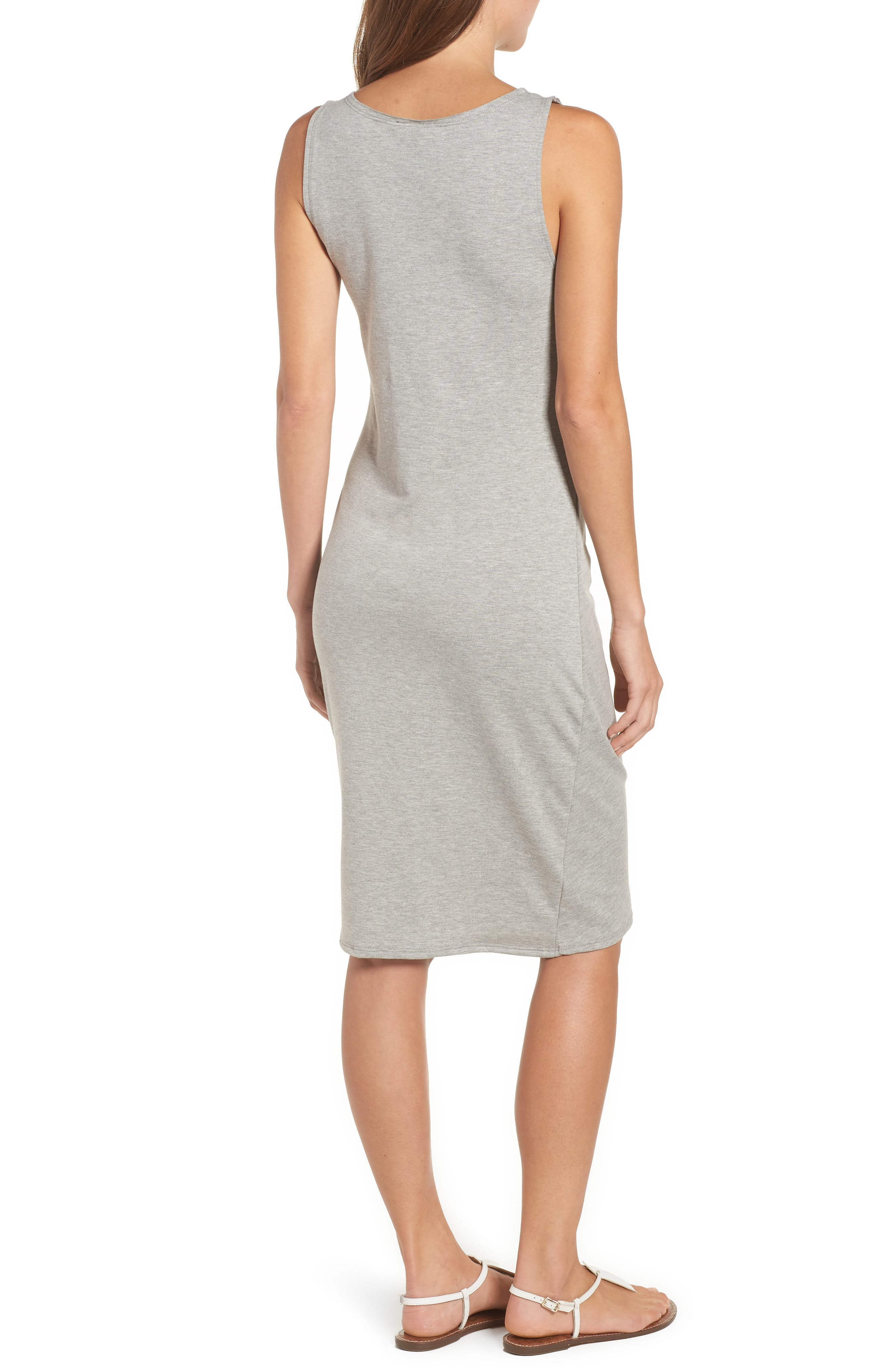 French Terry Ruffle Front Dress,                             Alternate thumbnail 5, color,