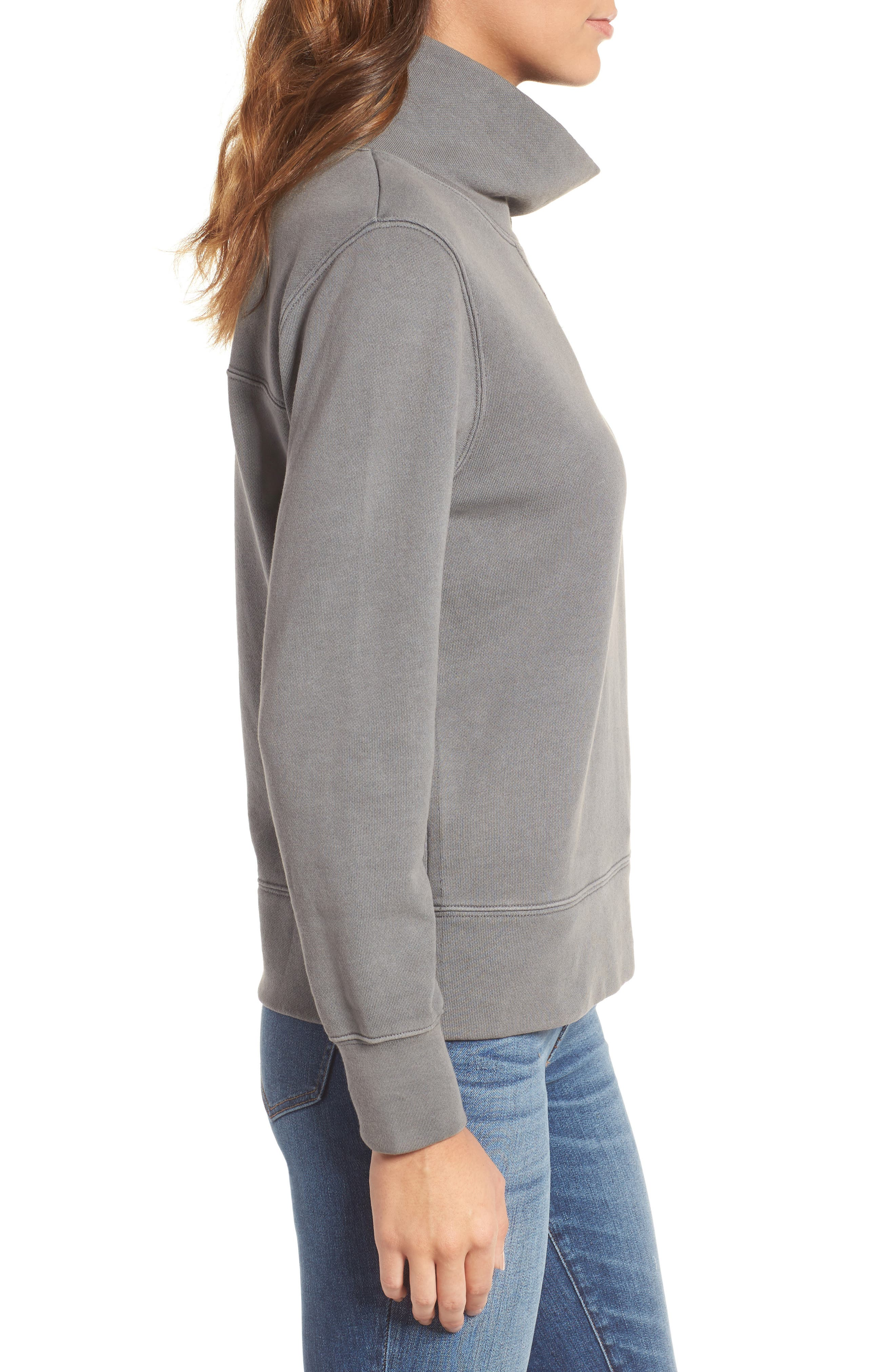 Garment Dyed Funnel Neck Sweatshirt,                             Alternate thumbnail 11, color,