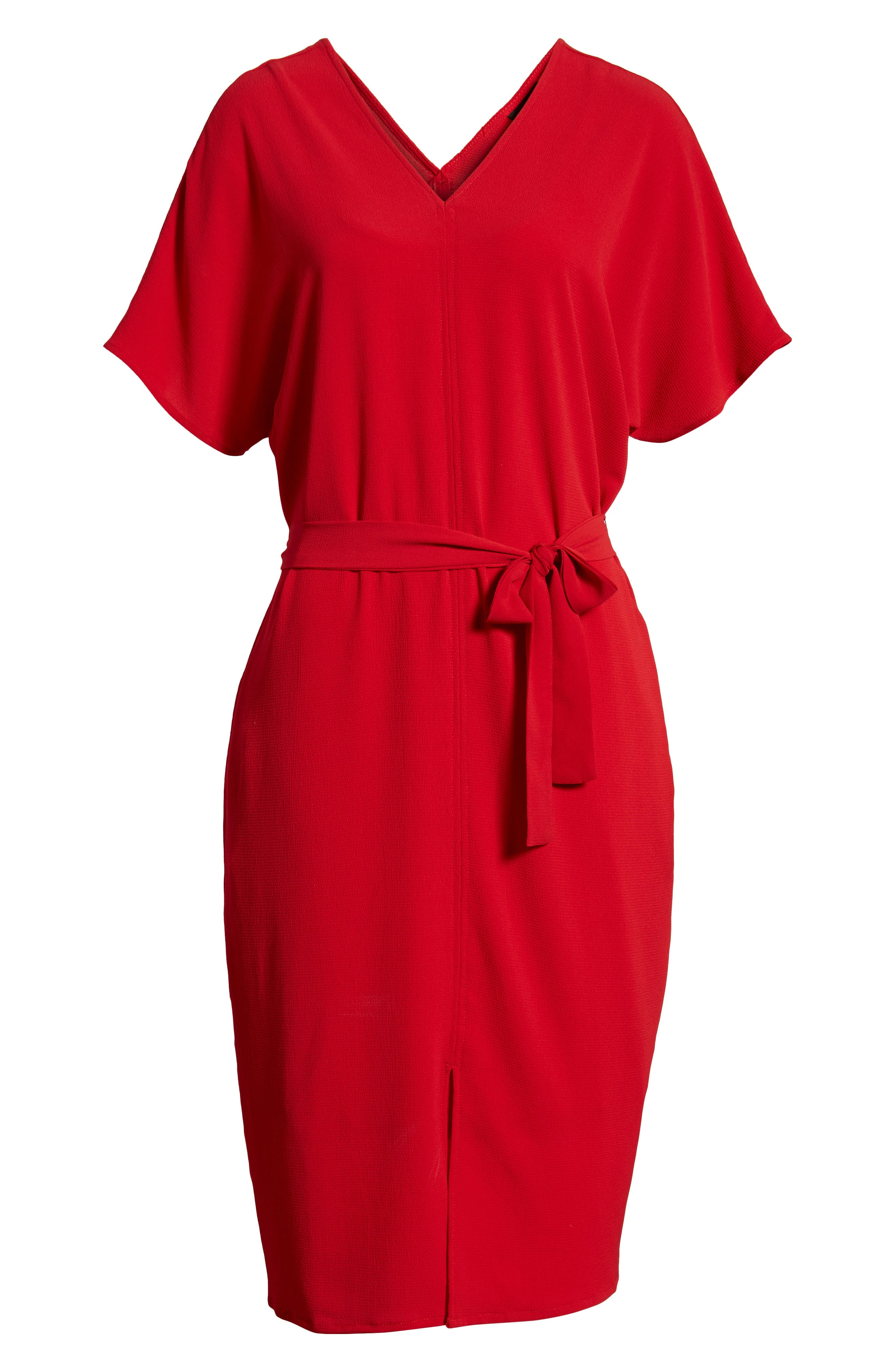 Stretch Crepe Dress,                             Alternate thumbnail 30, color,