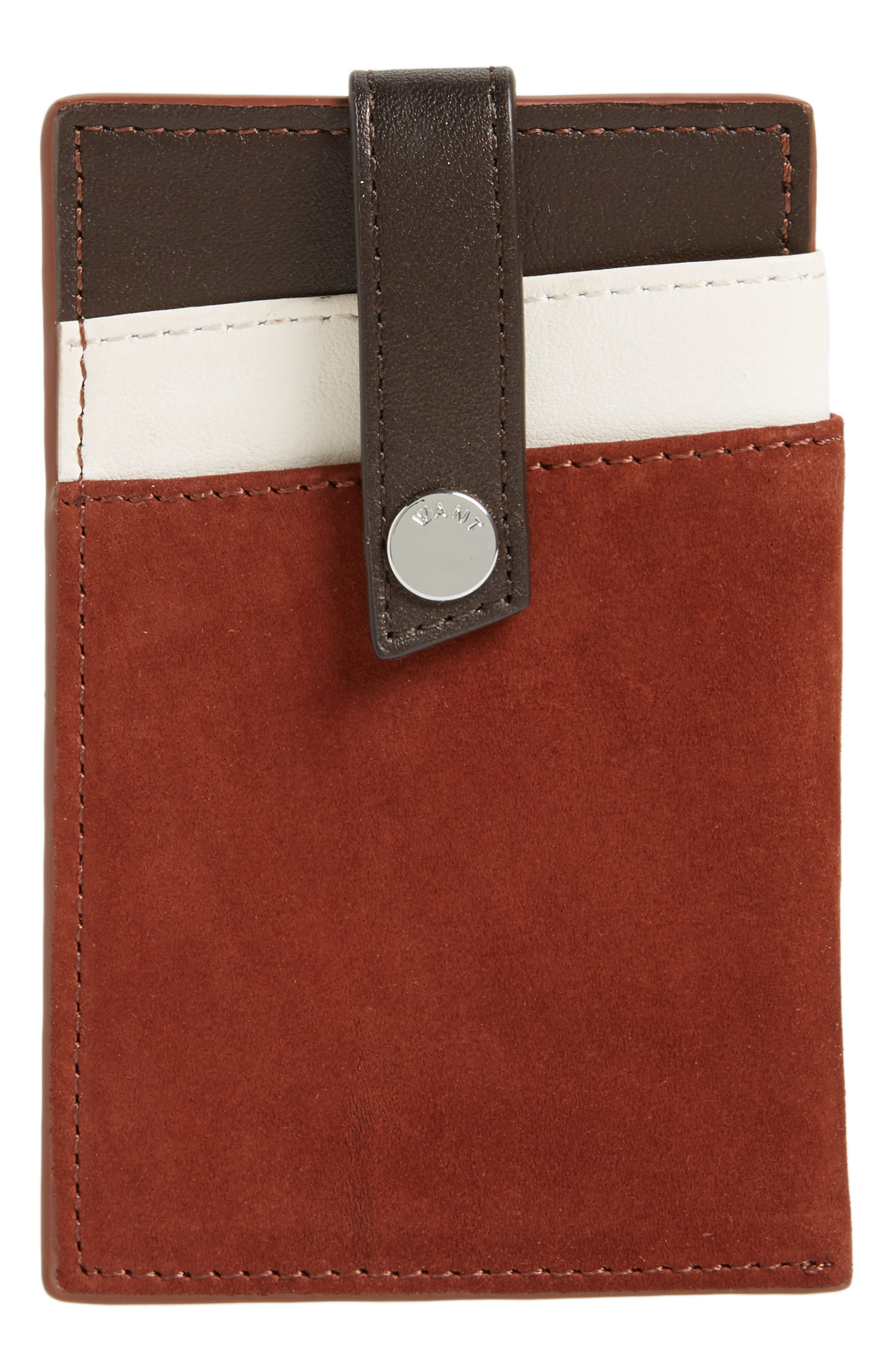 Kennedy Leather Money Clip Card Case,                         Main,                         color, 201