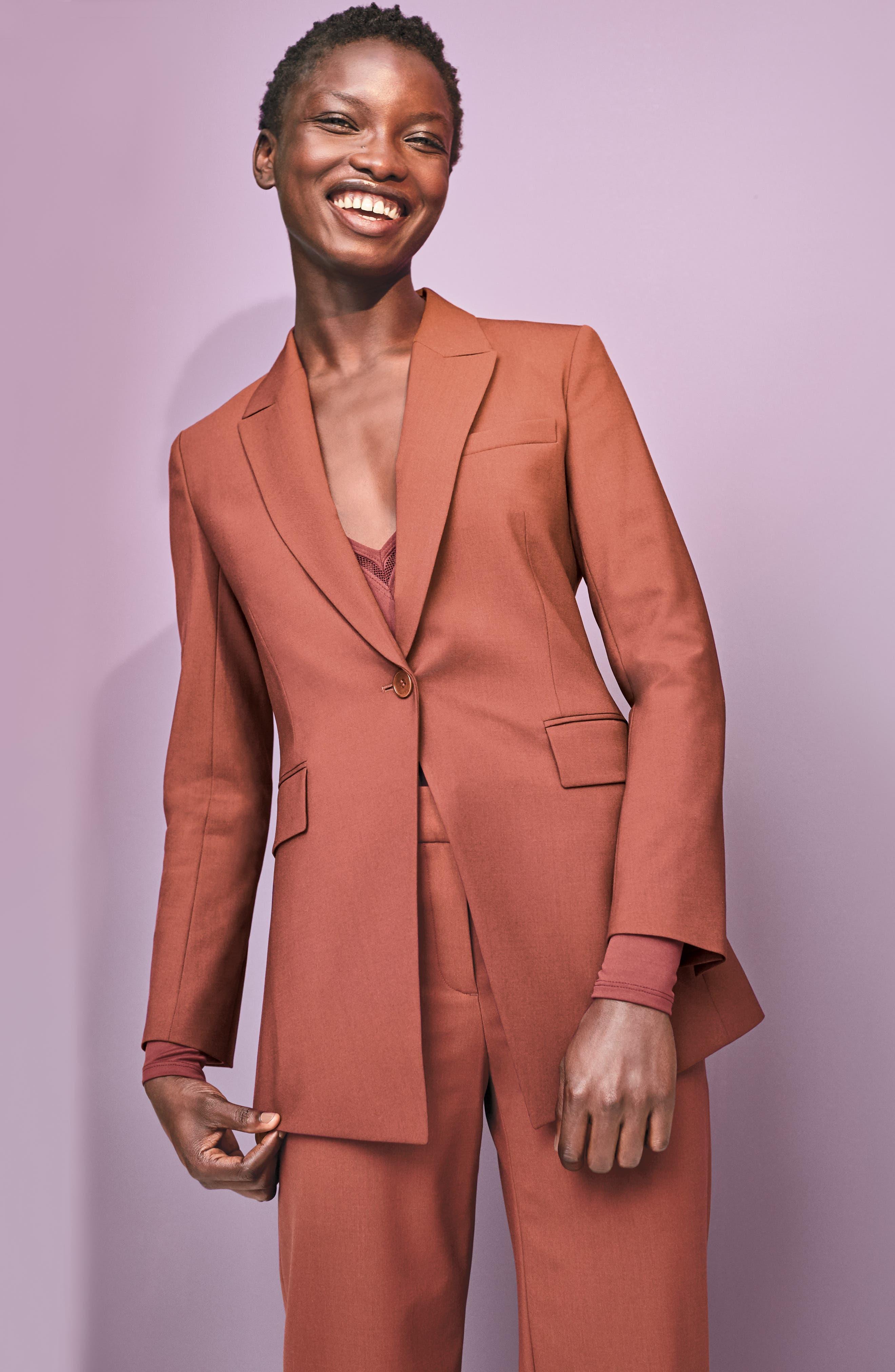 Etienette B Good Wool Suit Jacket,                         Main,                         color, 020