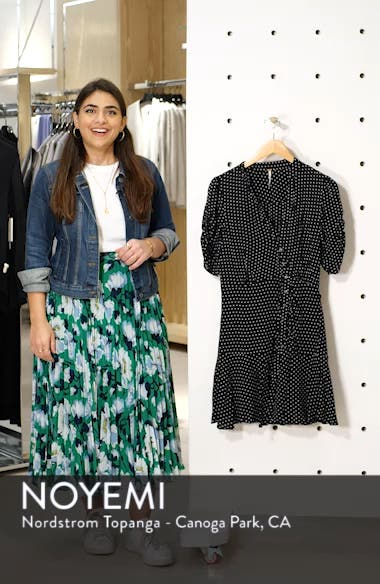 Pippa Polka Dot Print Minidress, sales video thumbnail
