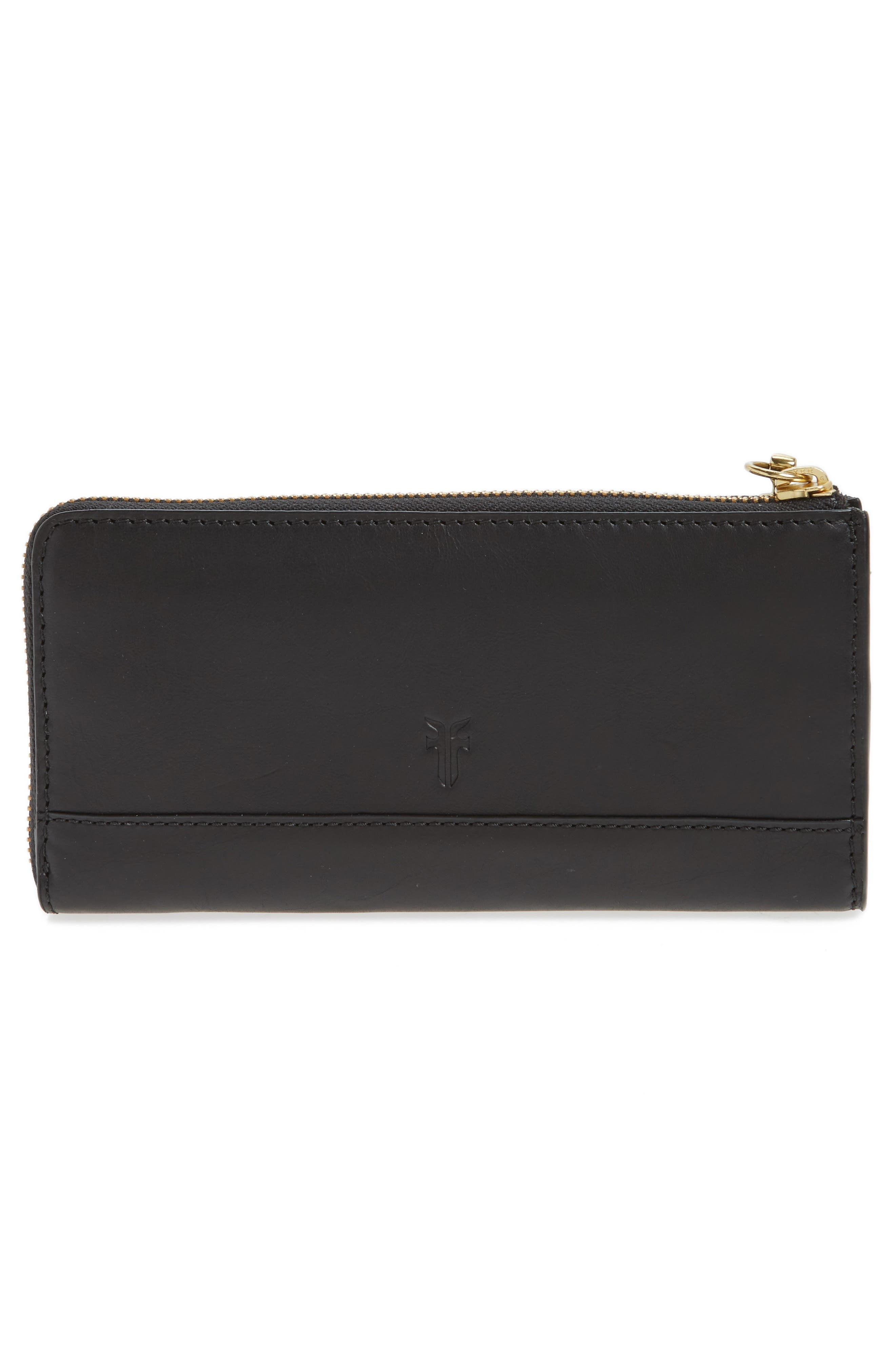 Large Ilana Harness Leather Zip Wallet,                             Alternate thumbnail 3, color,                             001