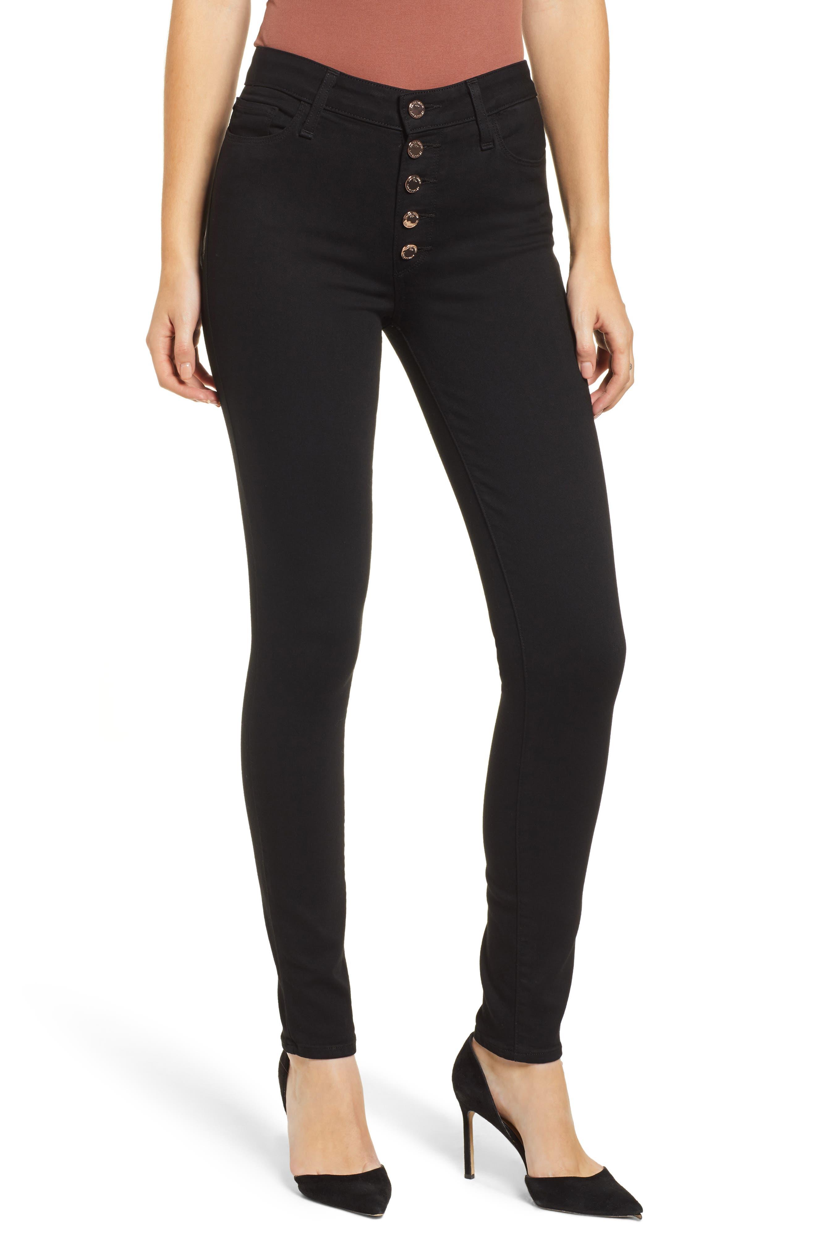 PAIGE Transcend Hoxton High Waist Ultra Skinny Jeans