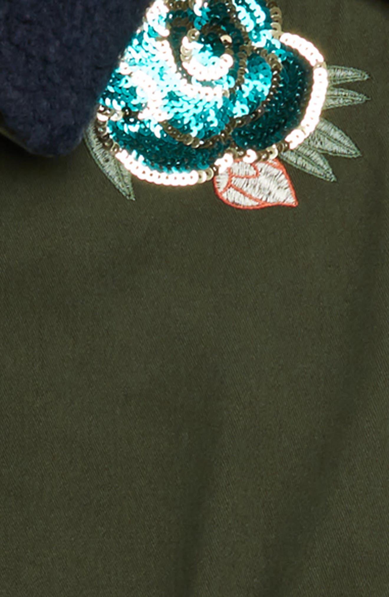 Embellished Cargo Jacket,                             Alternate thumbnail 2, color,                             OLIVE