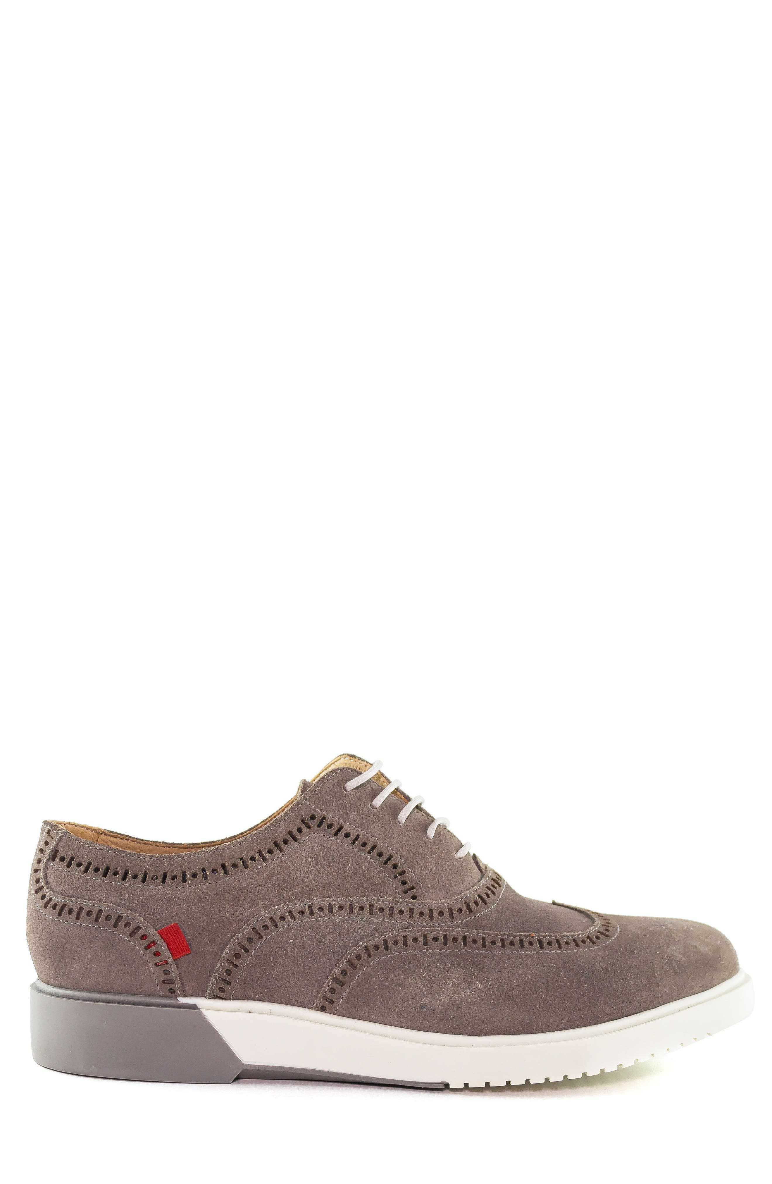 5th Ave Wingtip Sneaker,                             Alternate thumbnail 3, color,                             GREY SUEDE