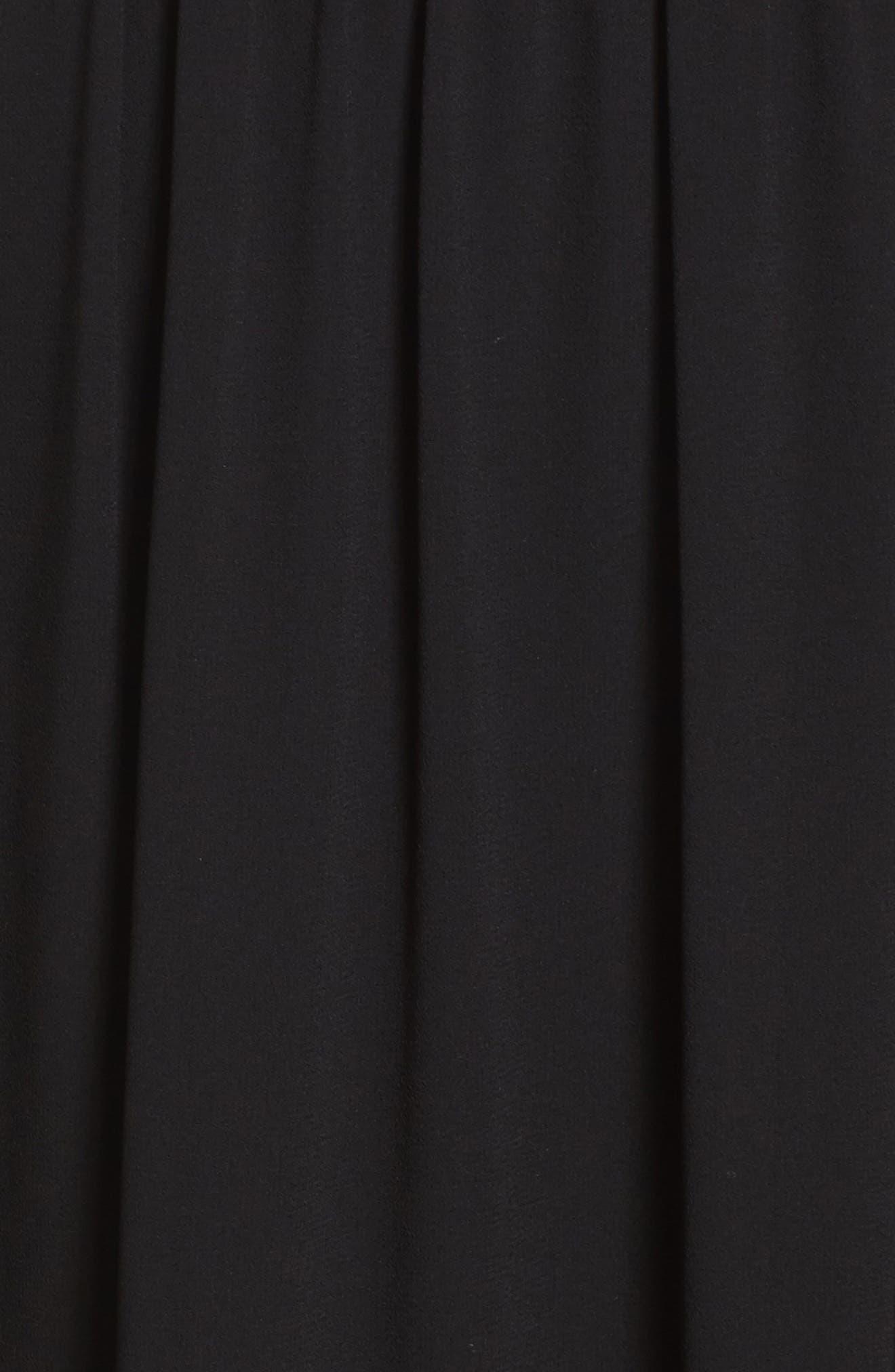 Glamorous Gala Embellished Maxi Dress,                             Alternate thumbnail 6, color,                             BLACK
