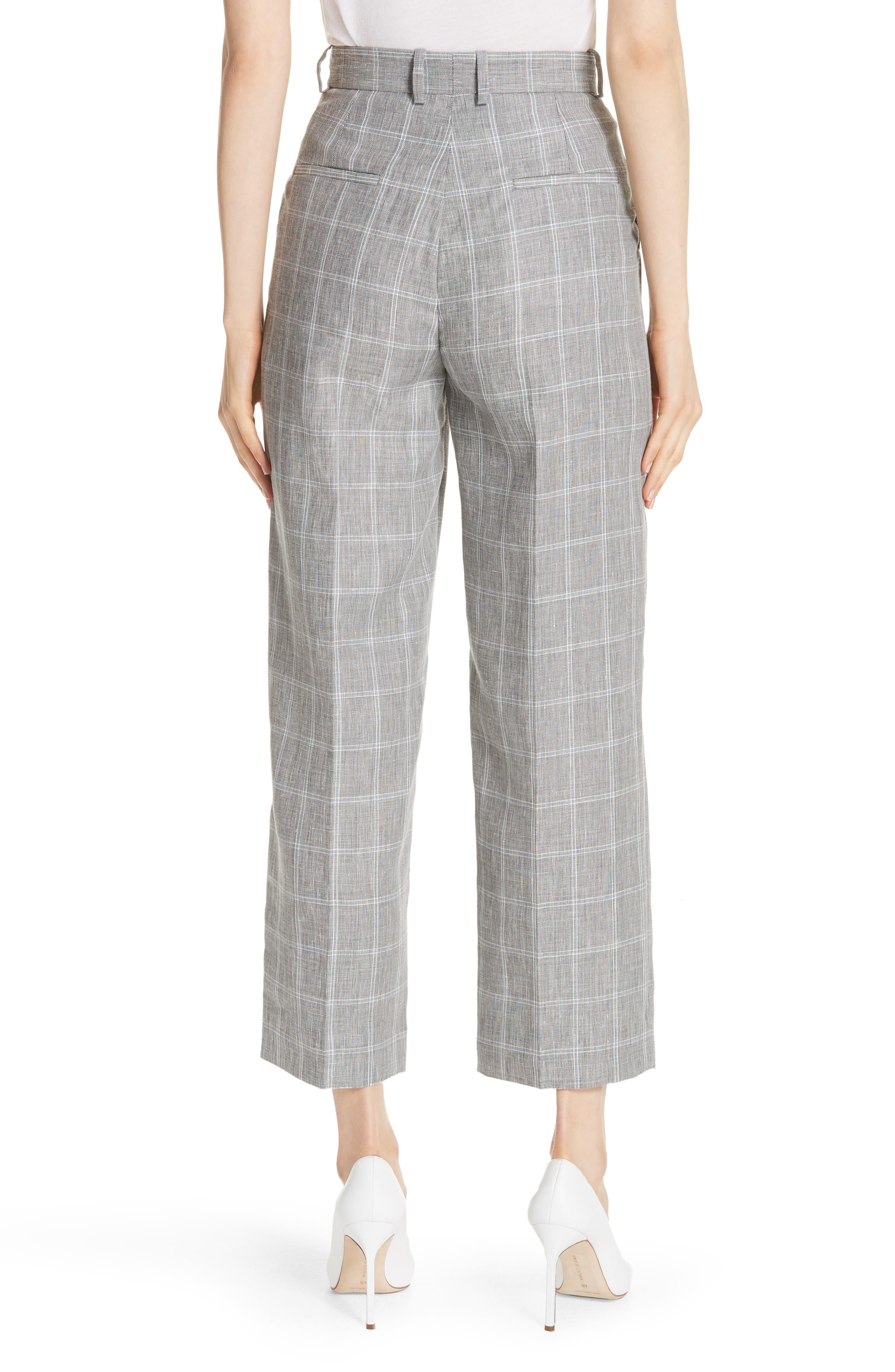 Check Wide Leg Crop Pants,                             Alternate thumbnail 2, color,                             020