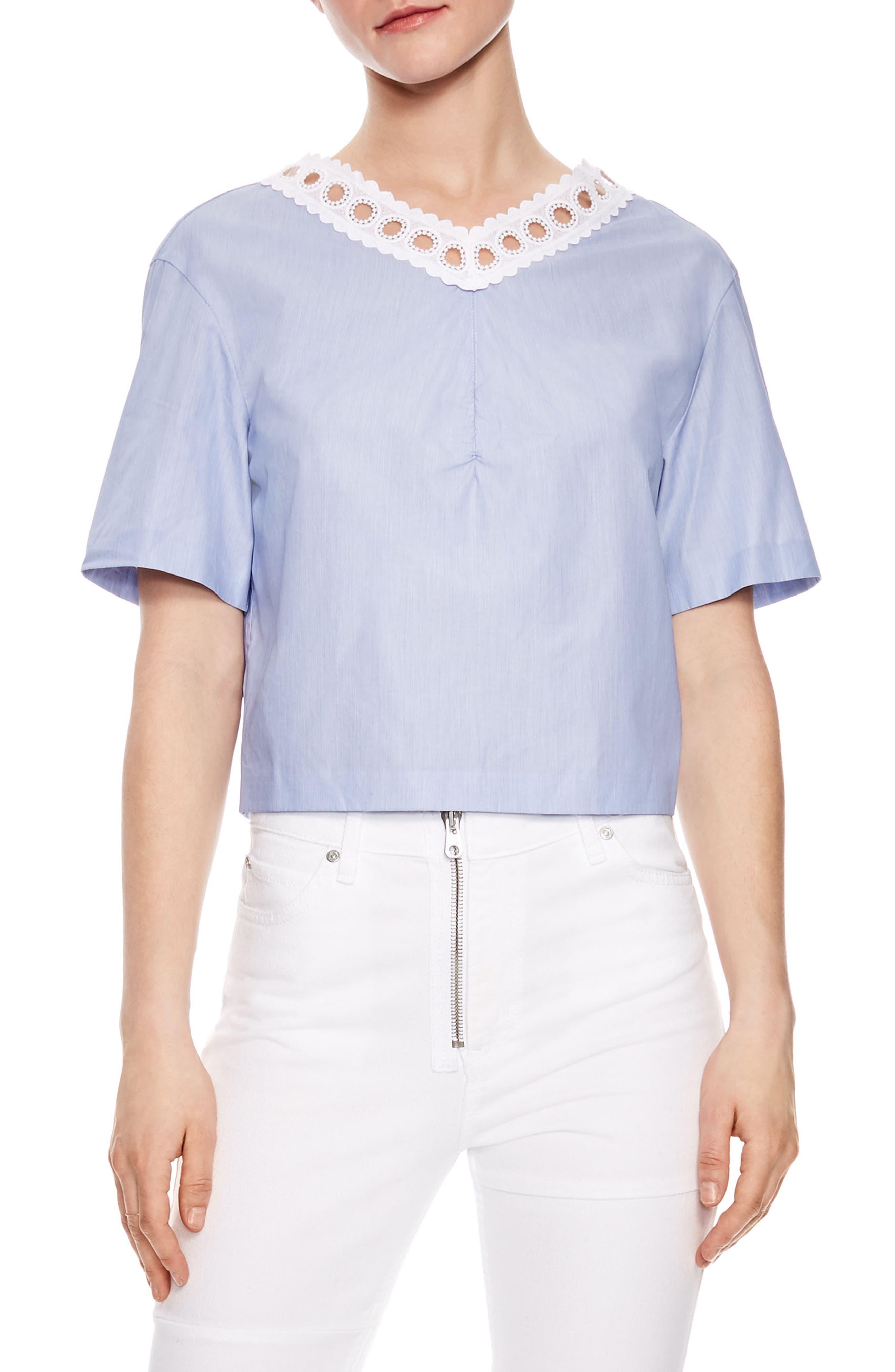 Bleu Ciel Tie Back Top,                         Main,                         color, 400