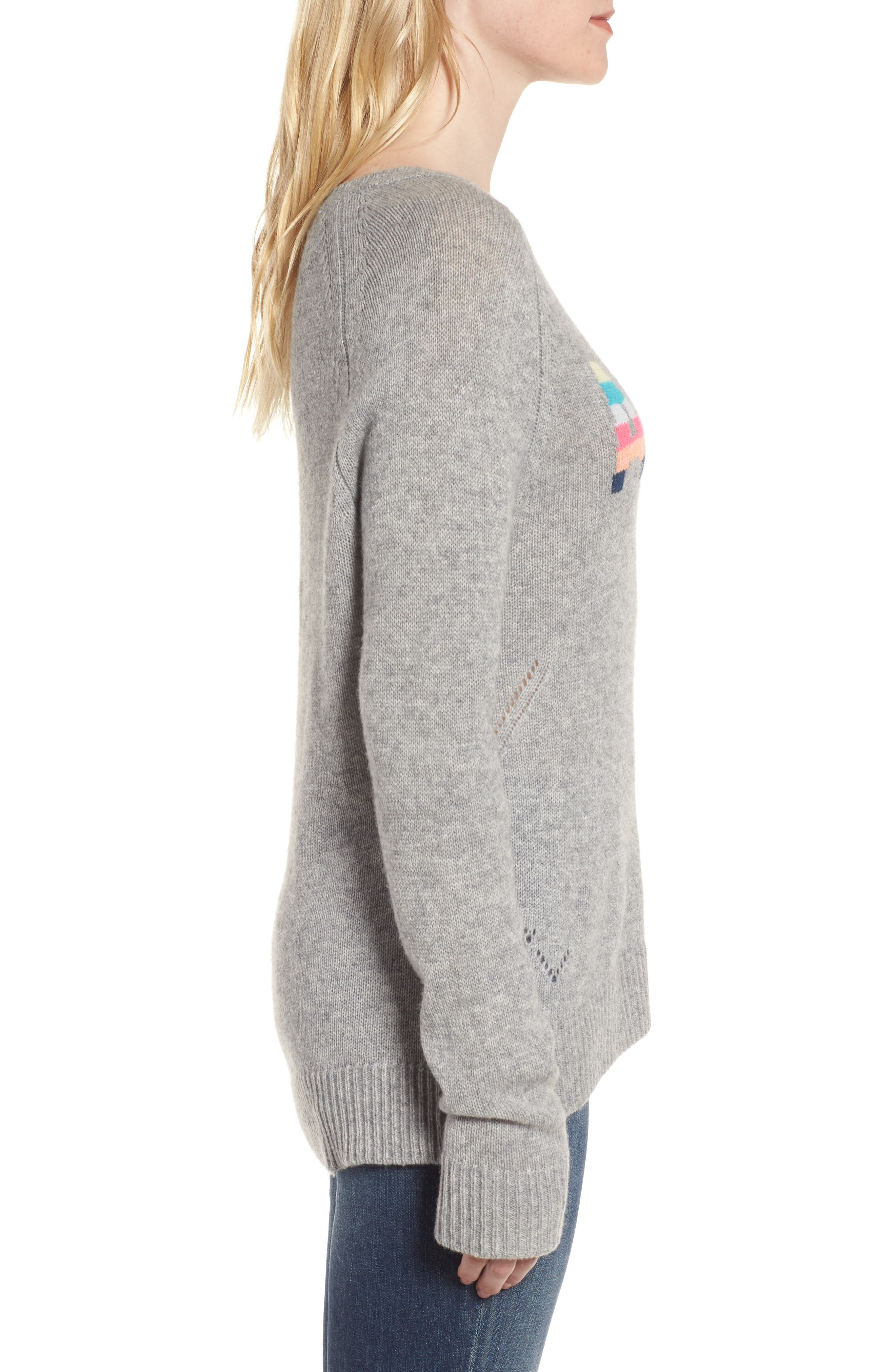 Baly Bis Cashmere Sweater,                             Alternate thumbnail 3, color,