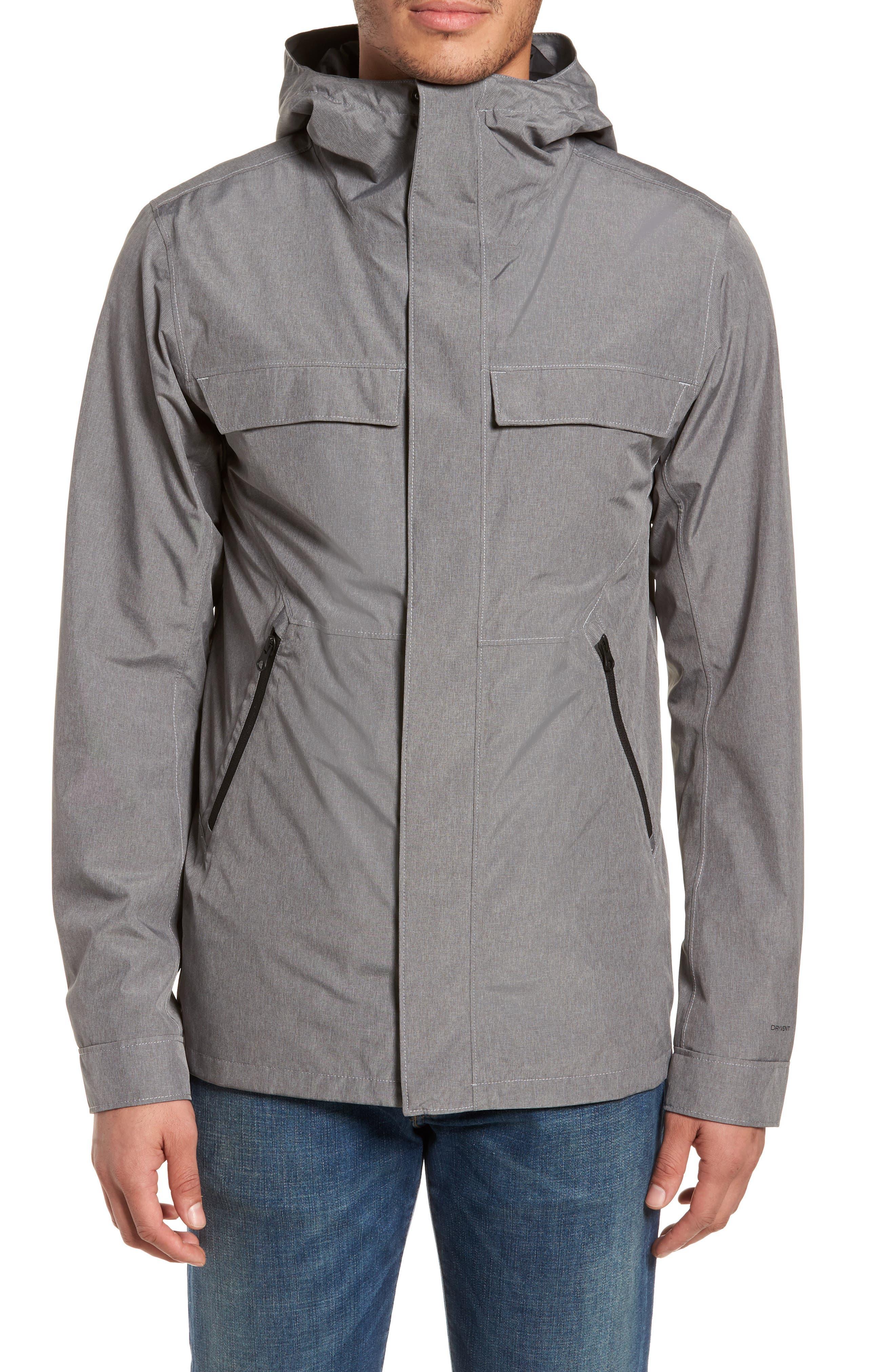 Jenison II Insulated Waterproof Jacket,                             Alternate thumbnail 4, color,                             TNF MEDIUM GREY HEATHER