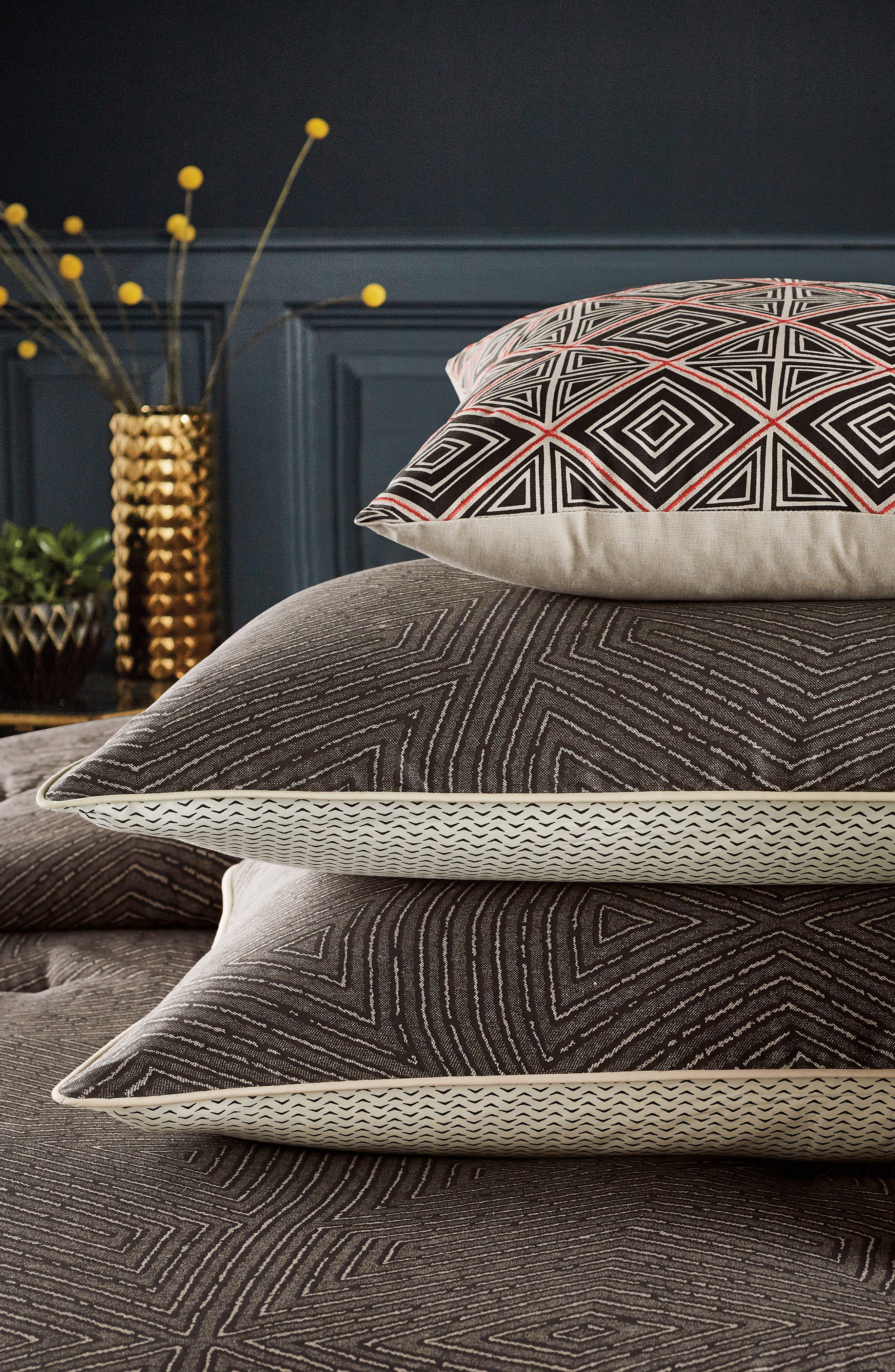 BEDECK,                             Arro Comforter, Sham & Accent Pillow Set,                             Alternate thumbnail 6, color,                             CHARCOAL
