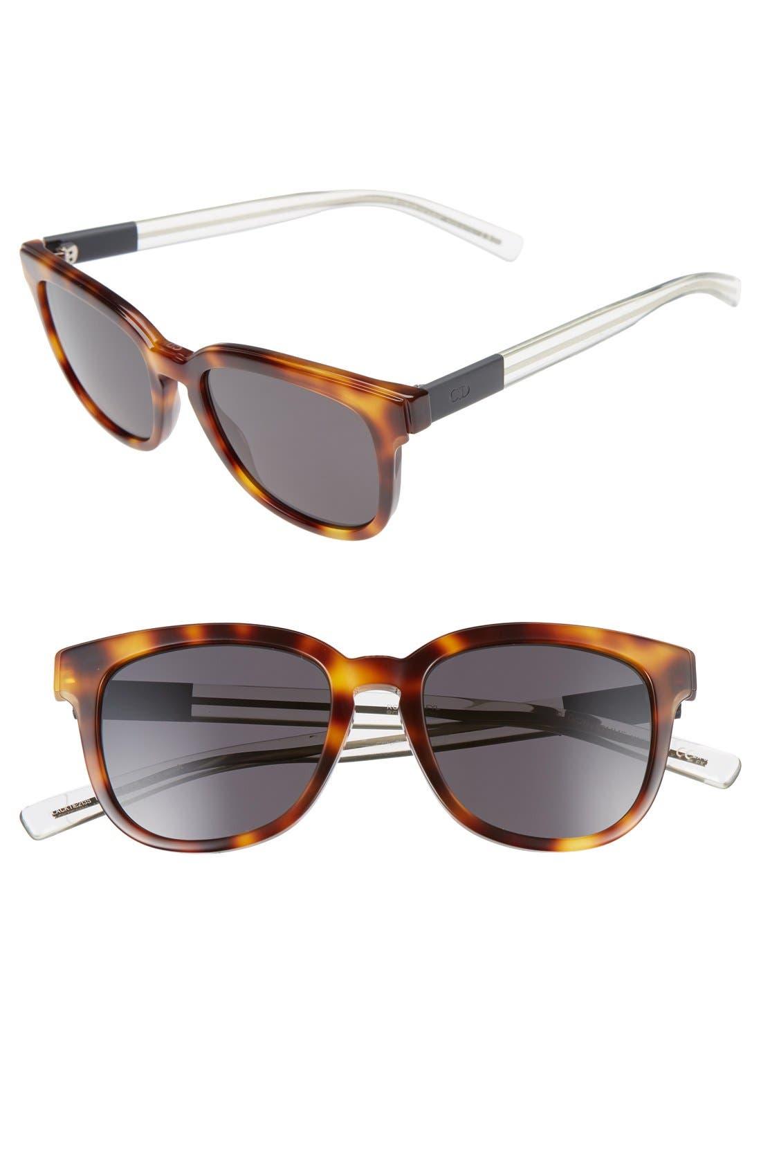 'Black Tie' 52mm Sunglasses,                         Main,                         color,