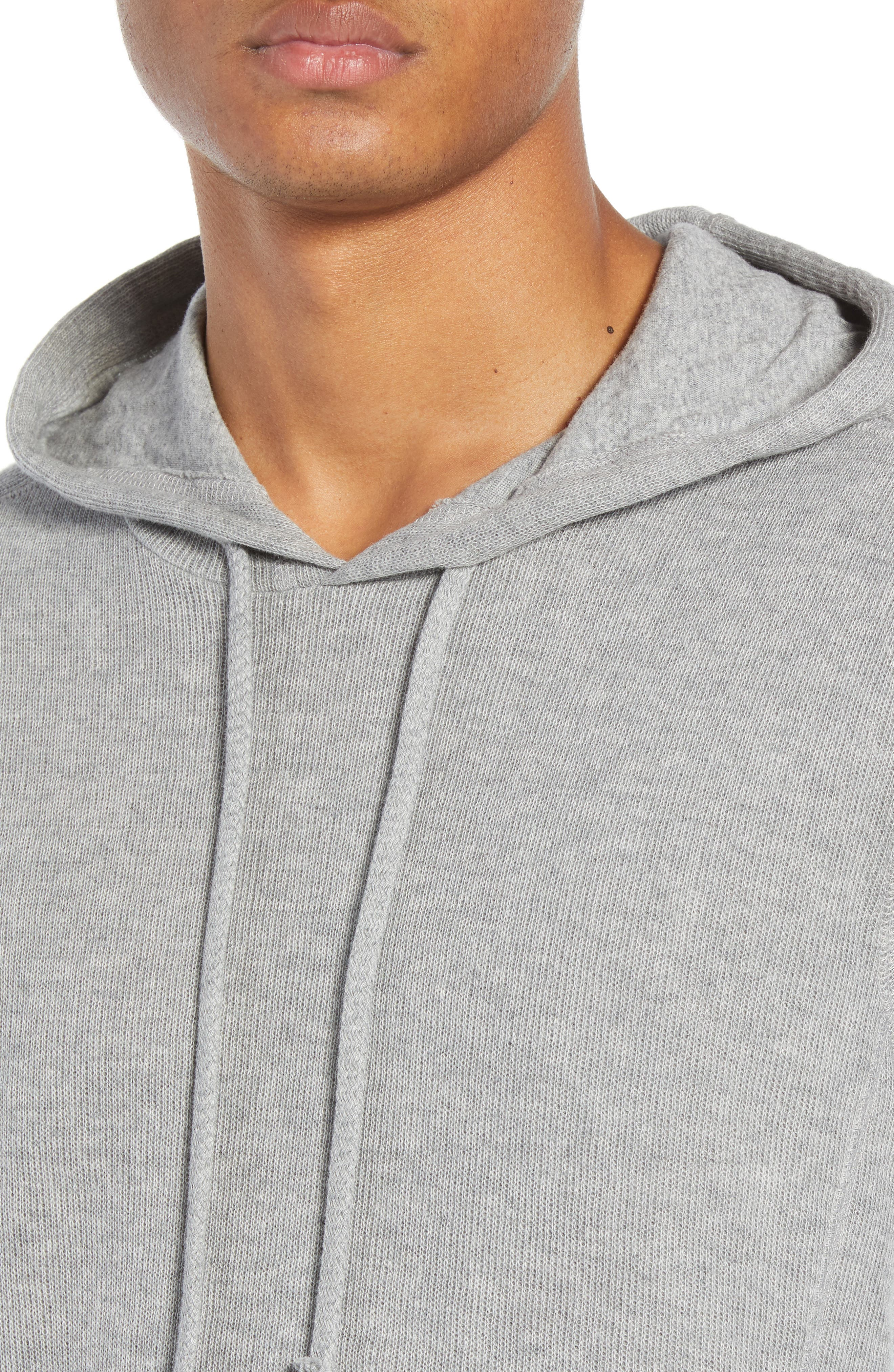 Double Knit Hoodie,                             Alternate thumbnail 4, color,                             H STEEL