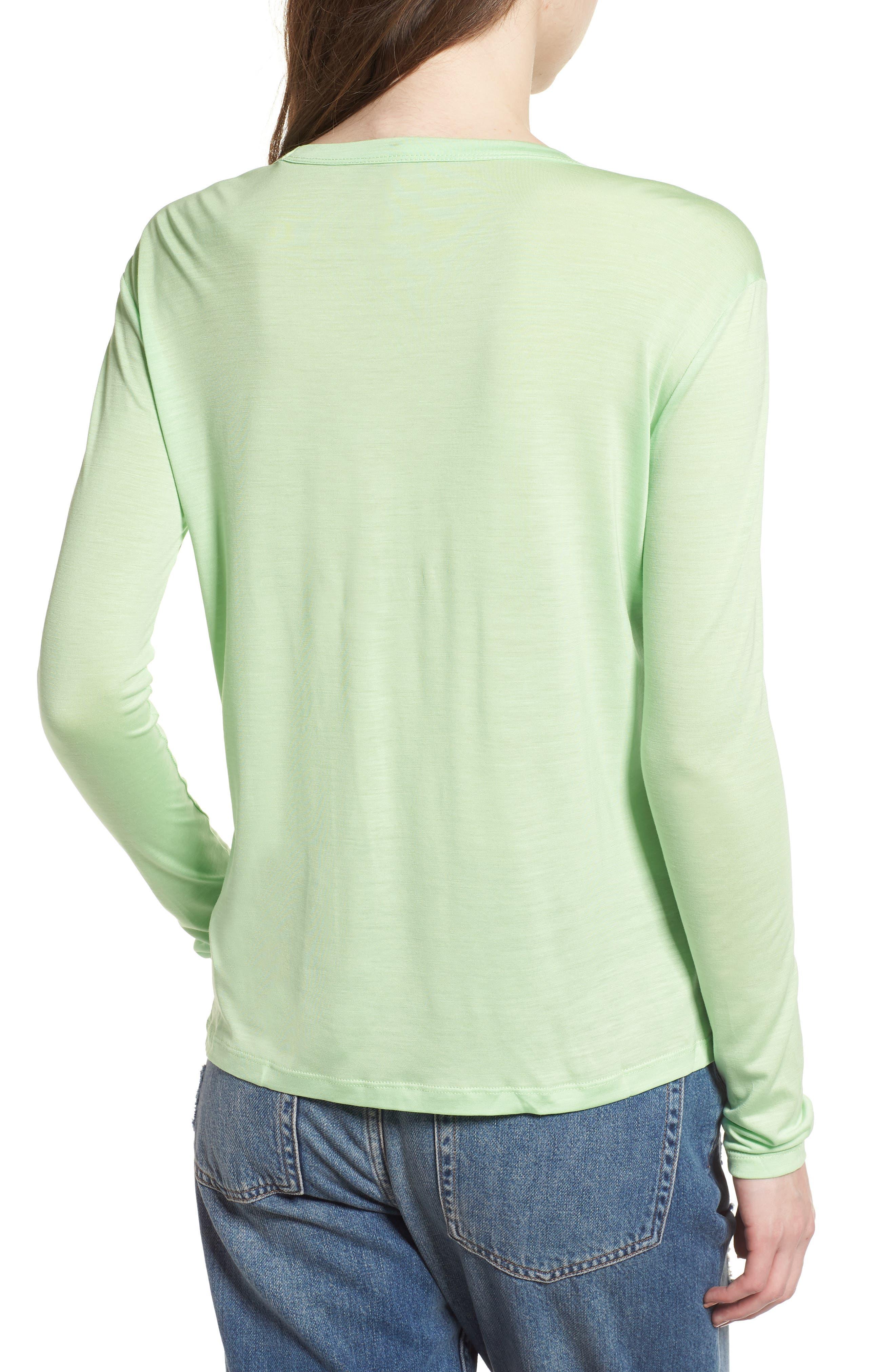 Lyocell Long Sleeve T-Shirt,                             Alternate thumbnail 4, color,