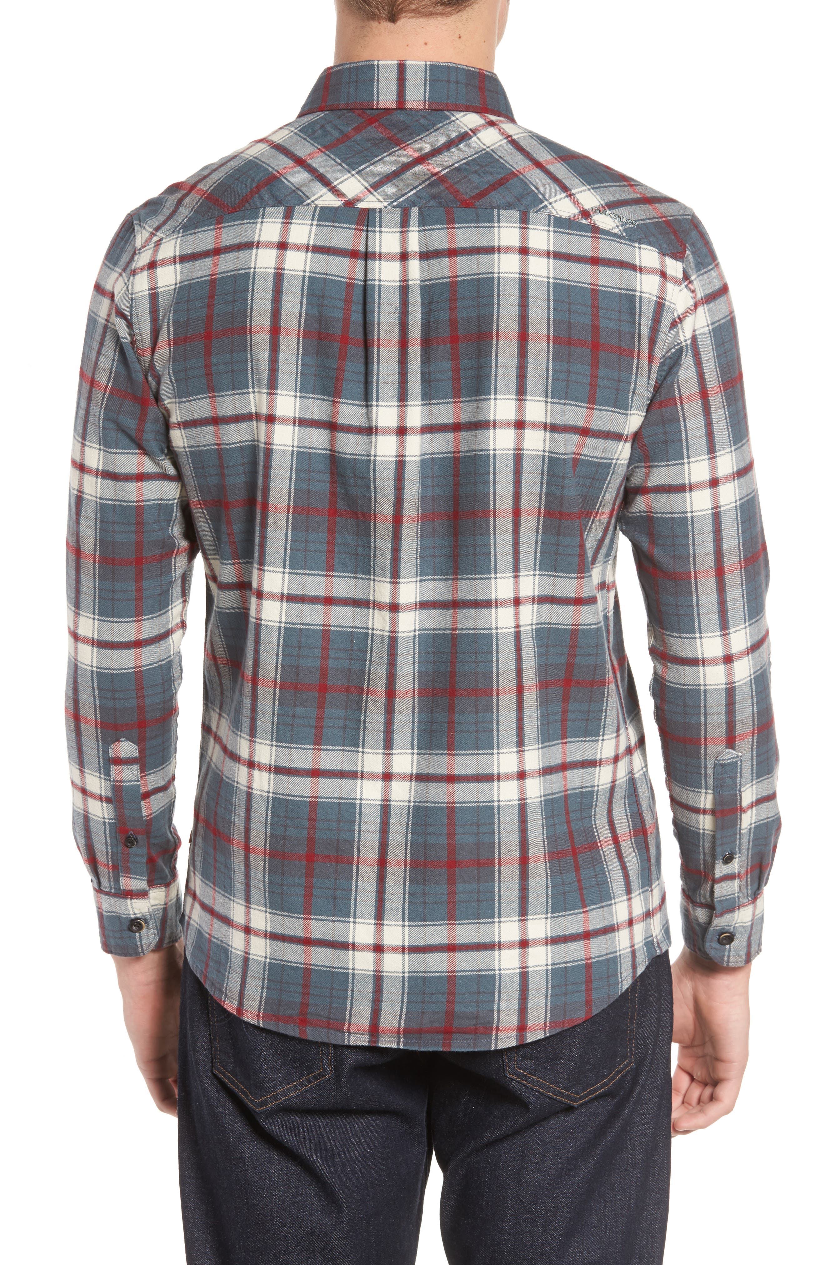 Raleigh Plaid Flannel Sport Shirt,                             Alternate thumbnail 2, color,                             009