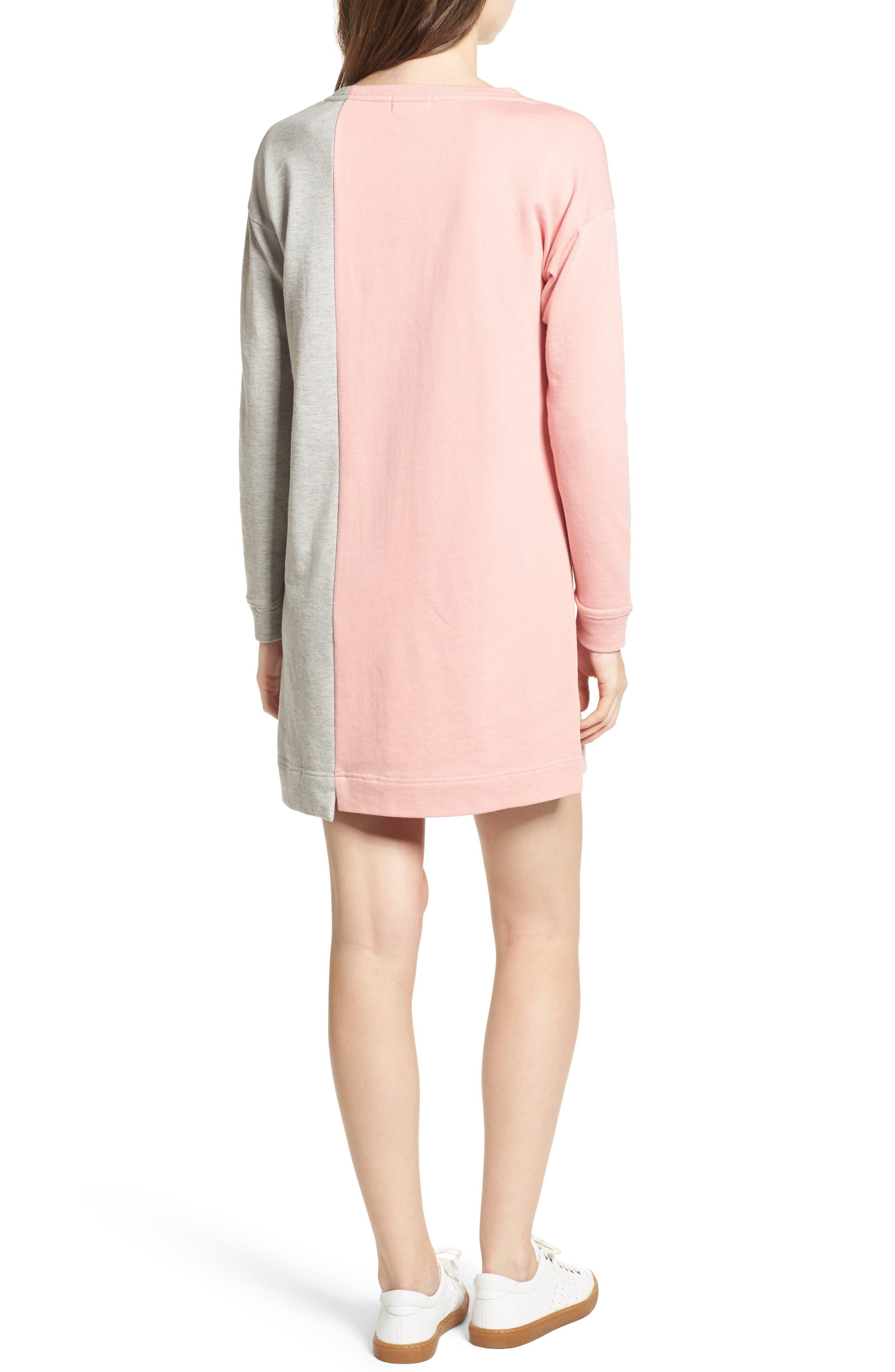 Colorblock Sweatshirt Dress,                             Alternate thumbnail 2, color,                             039
