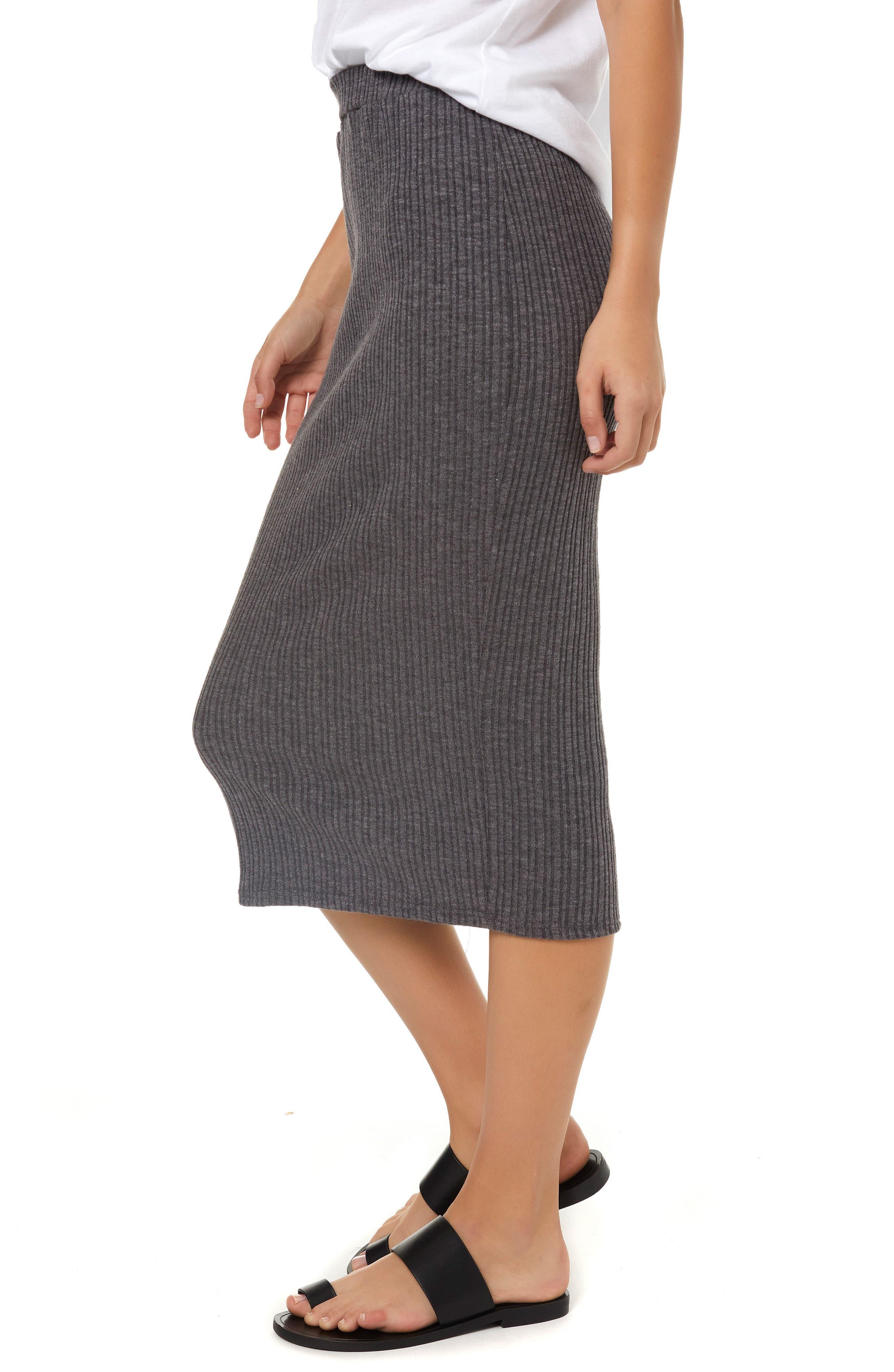 Candi Rib Knit Midi Skirt,                             Alternate thumbnail 3, color,                             020