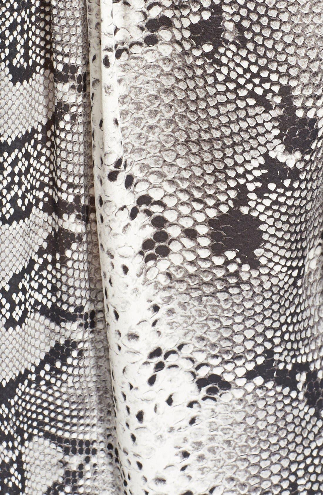 'Kane' Python Print Silk Blouse,                             Alternate thumbnail 4, color,                             900