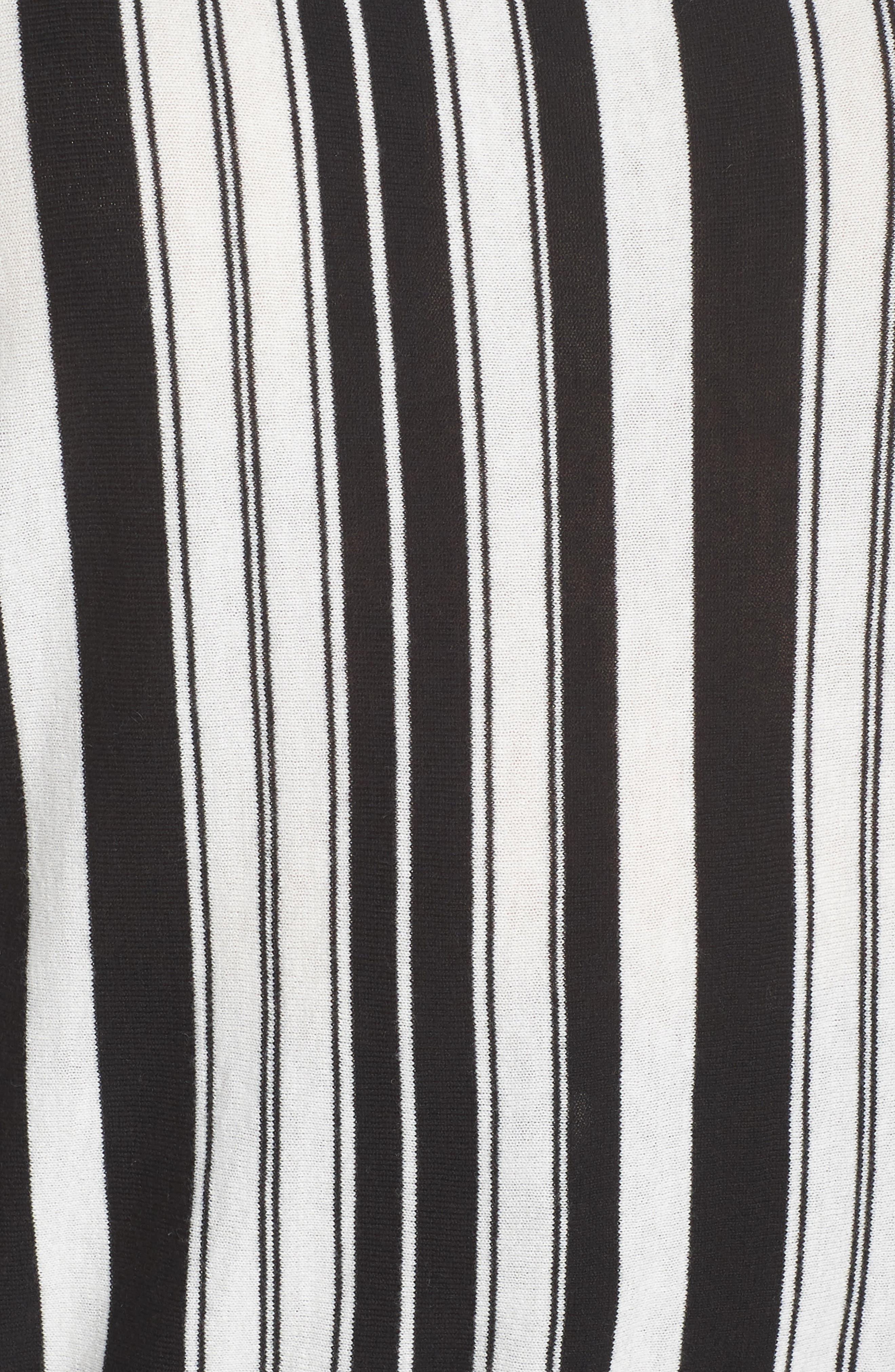 Stripe Pullover,                             Alternate thumbnail 5, color,                             BLACK- WHITE FIERCE STRIPE