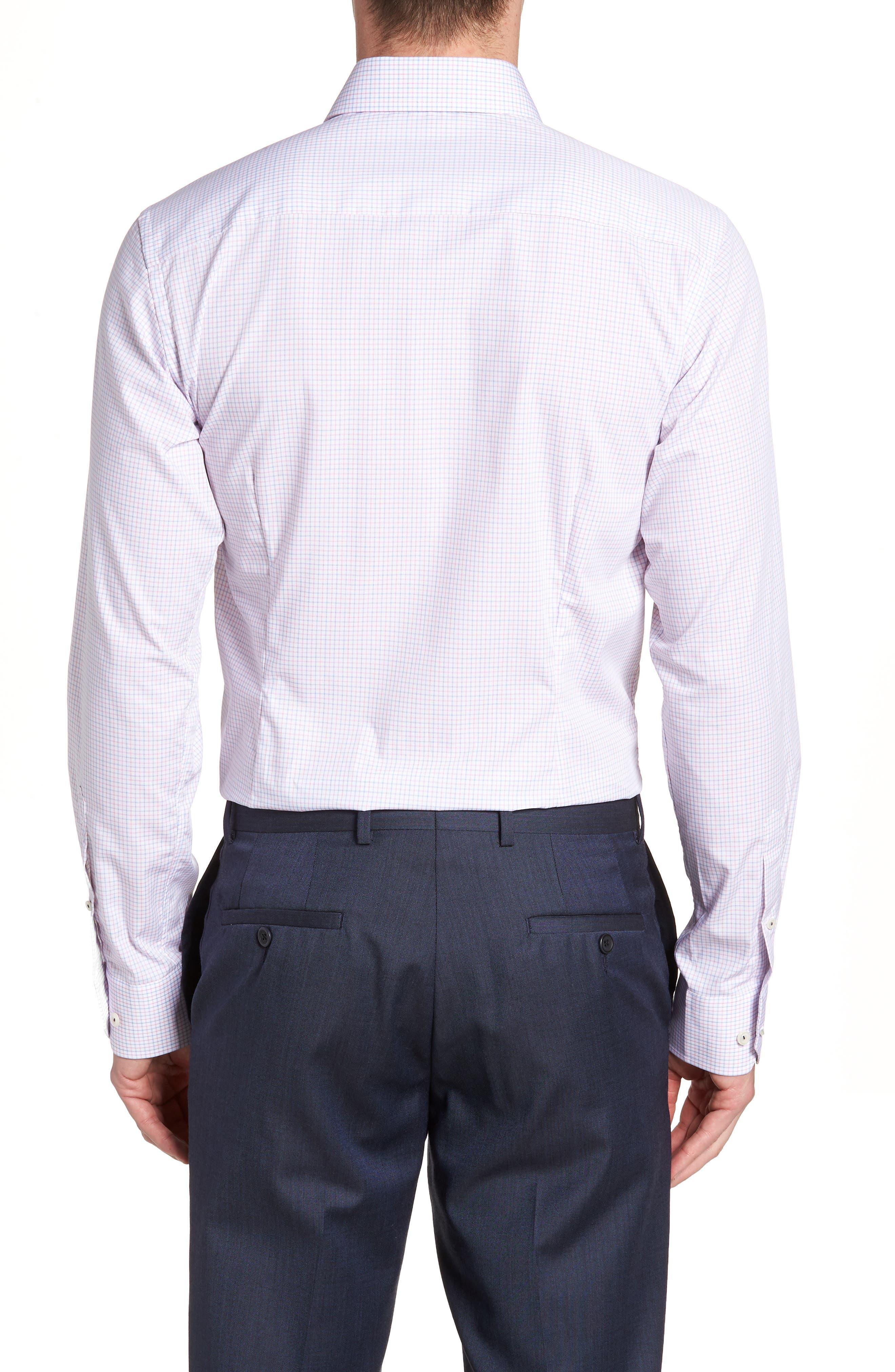 Contemporary Fit Check Dress Shirt,                             Alternate thumbnail 3, color,                             651