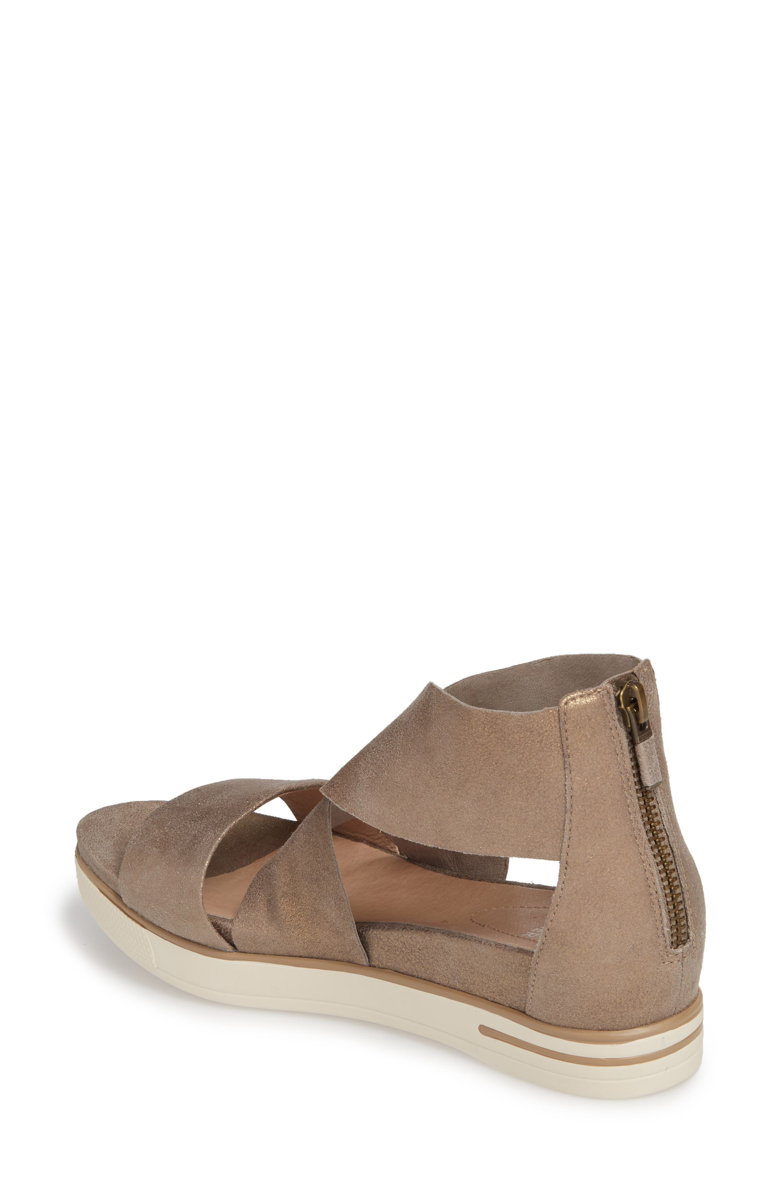 Sport Platform Sandal,                             Alternate thumbnail 2, color,                             PLATINUM LEATHER