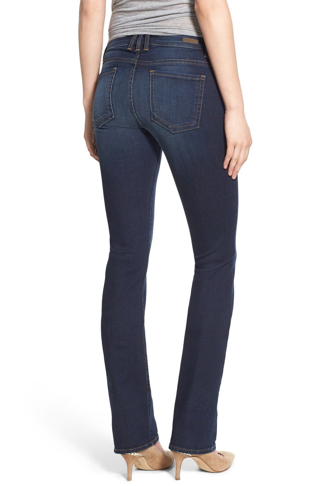 'Natalie' Stretch Bootleg Jeans,                             Alternate thumbnail 6, color,                             401