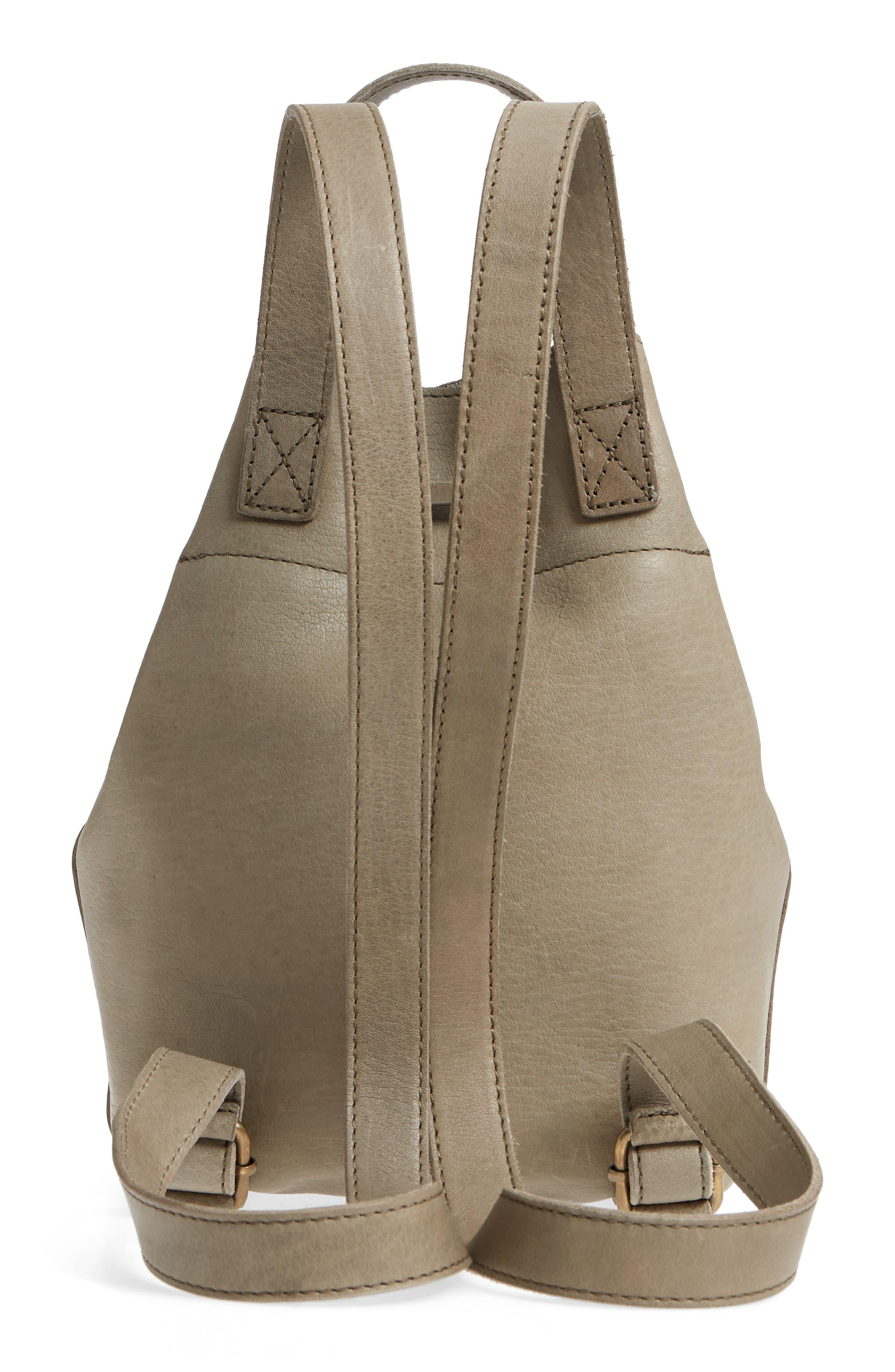 Mini Somerset Leather Backpack,                             Alternate thumbnail 3, color,                             FORGOTTEN LANDSCAPE