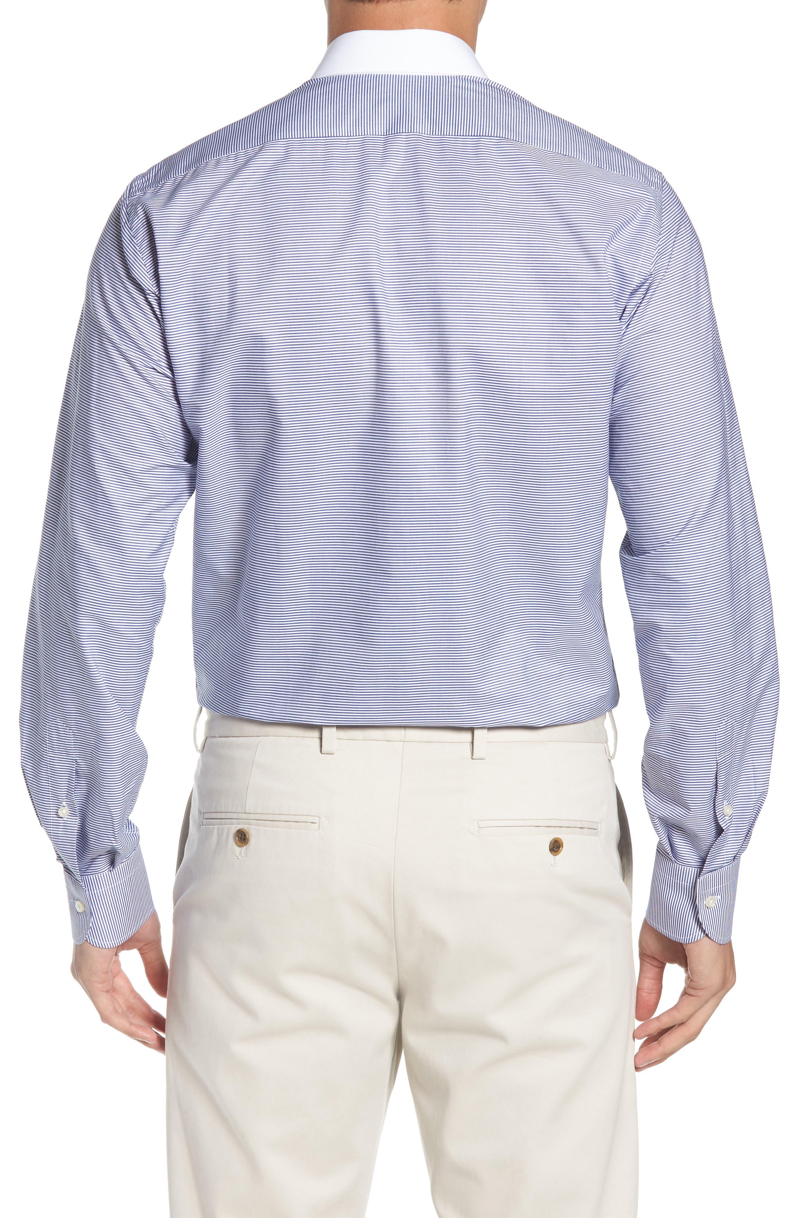 Regular Fit Stripe Dress Shirt,                             Alternate thumbnail 3, color,                             400