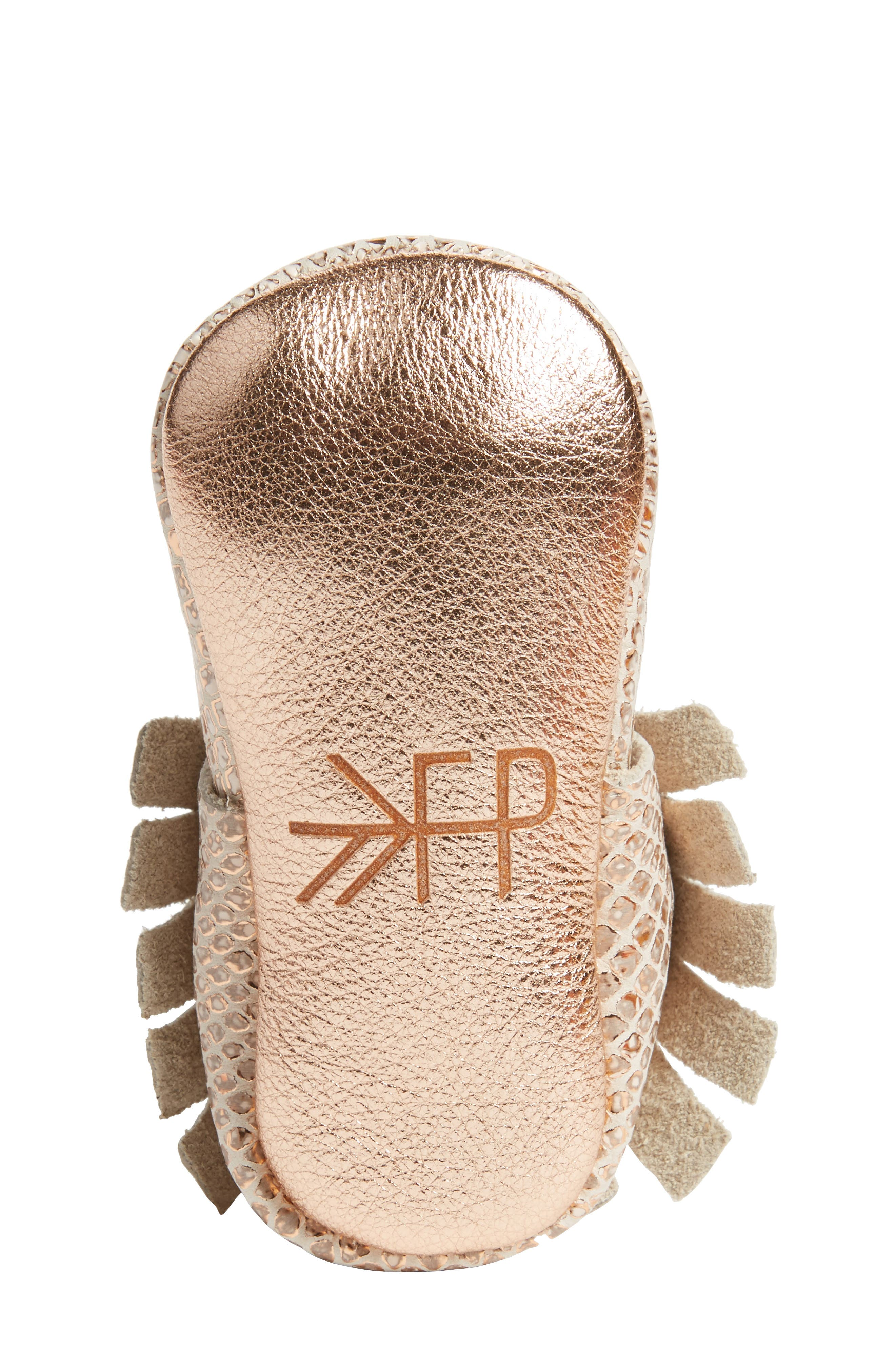 Fashion Week Mocassin,                             Alternate thumbnail 6, color,                             ROSE GOLD LEATHER