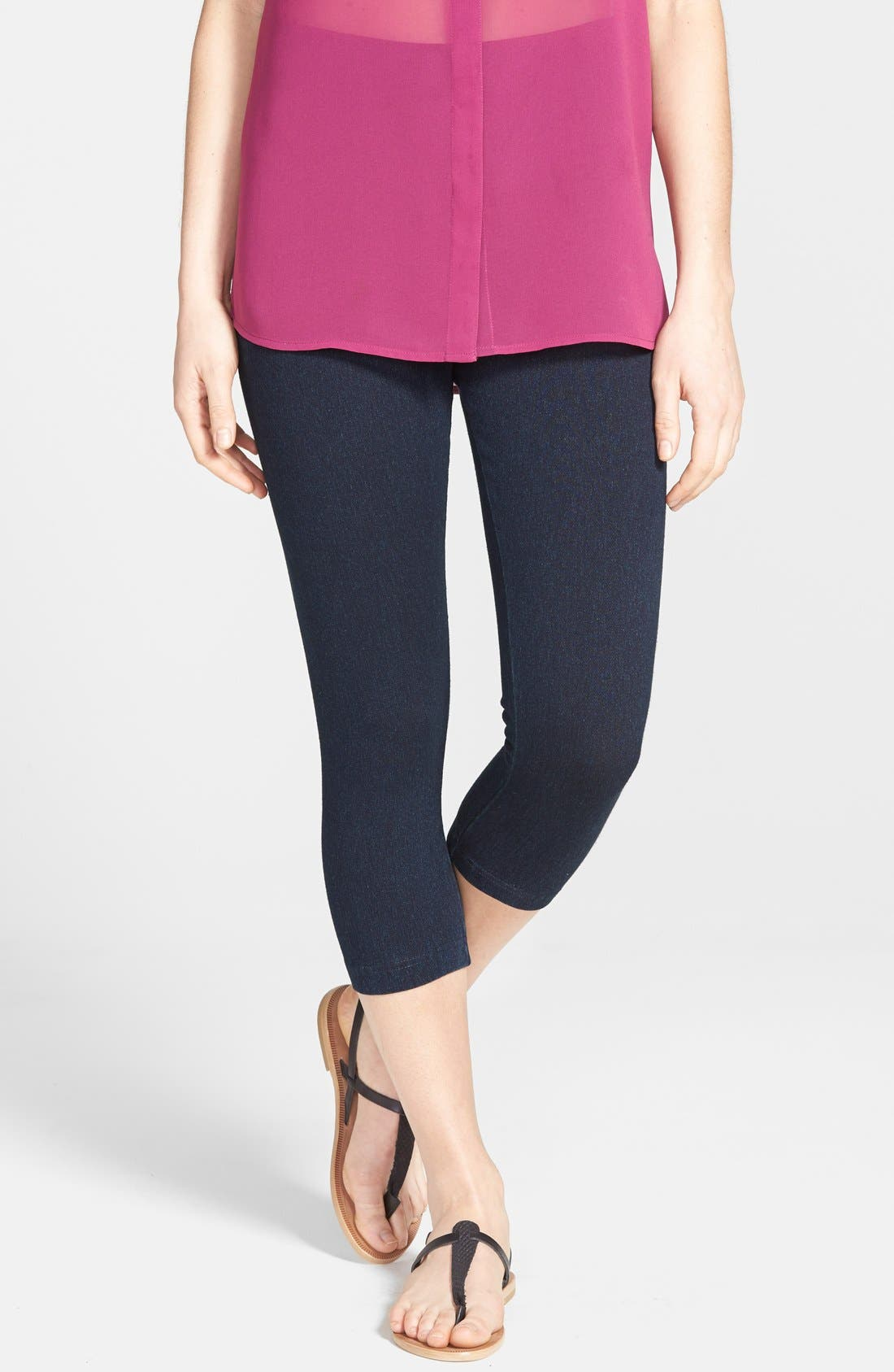 Lysse Denim Capri Leggings, Blue
