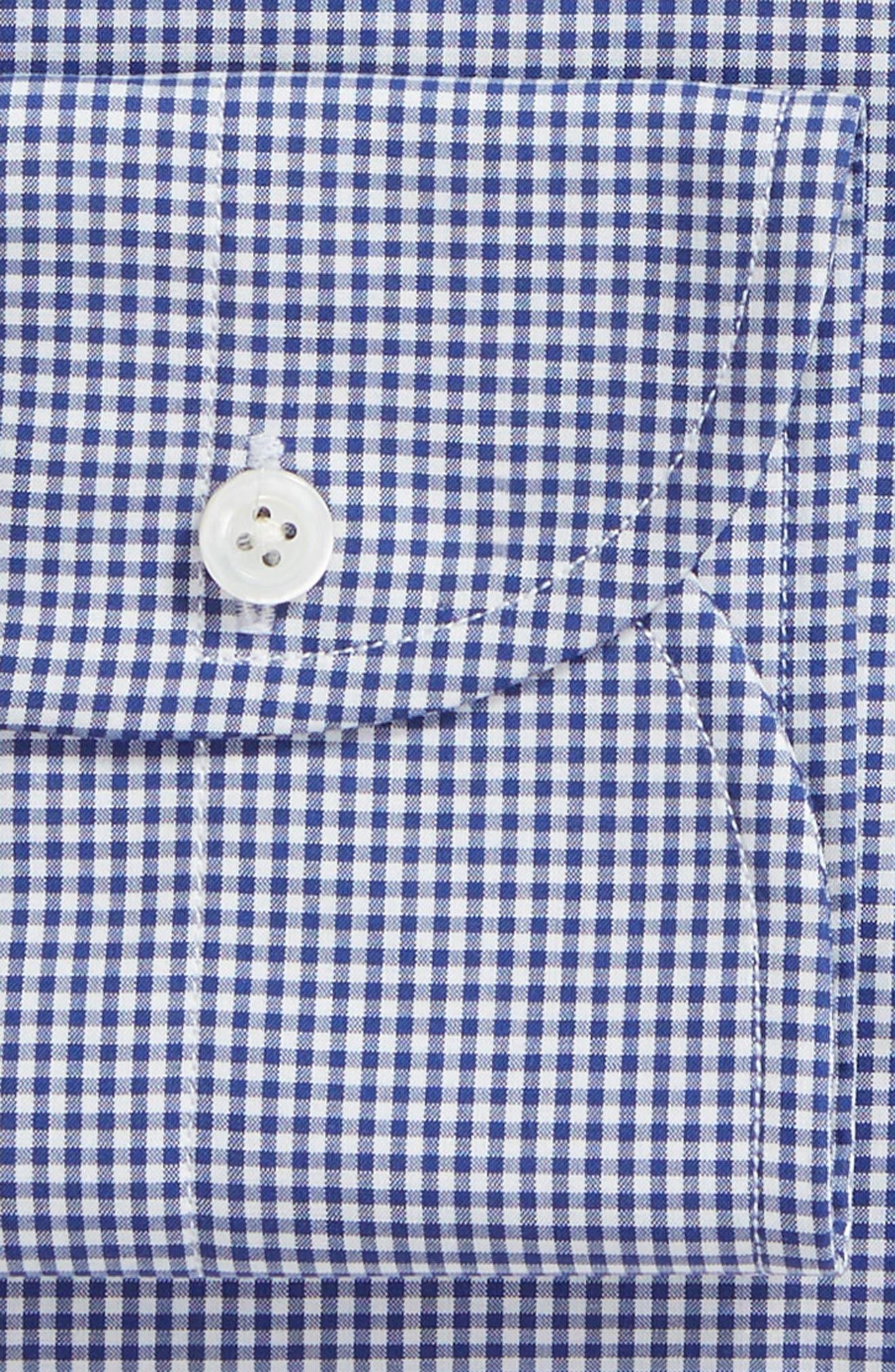 Classic Fit Gingham Dress Shirt,                             Alternate thumbnail 6, color,                             420