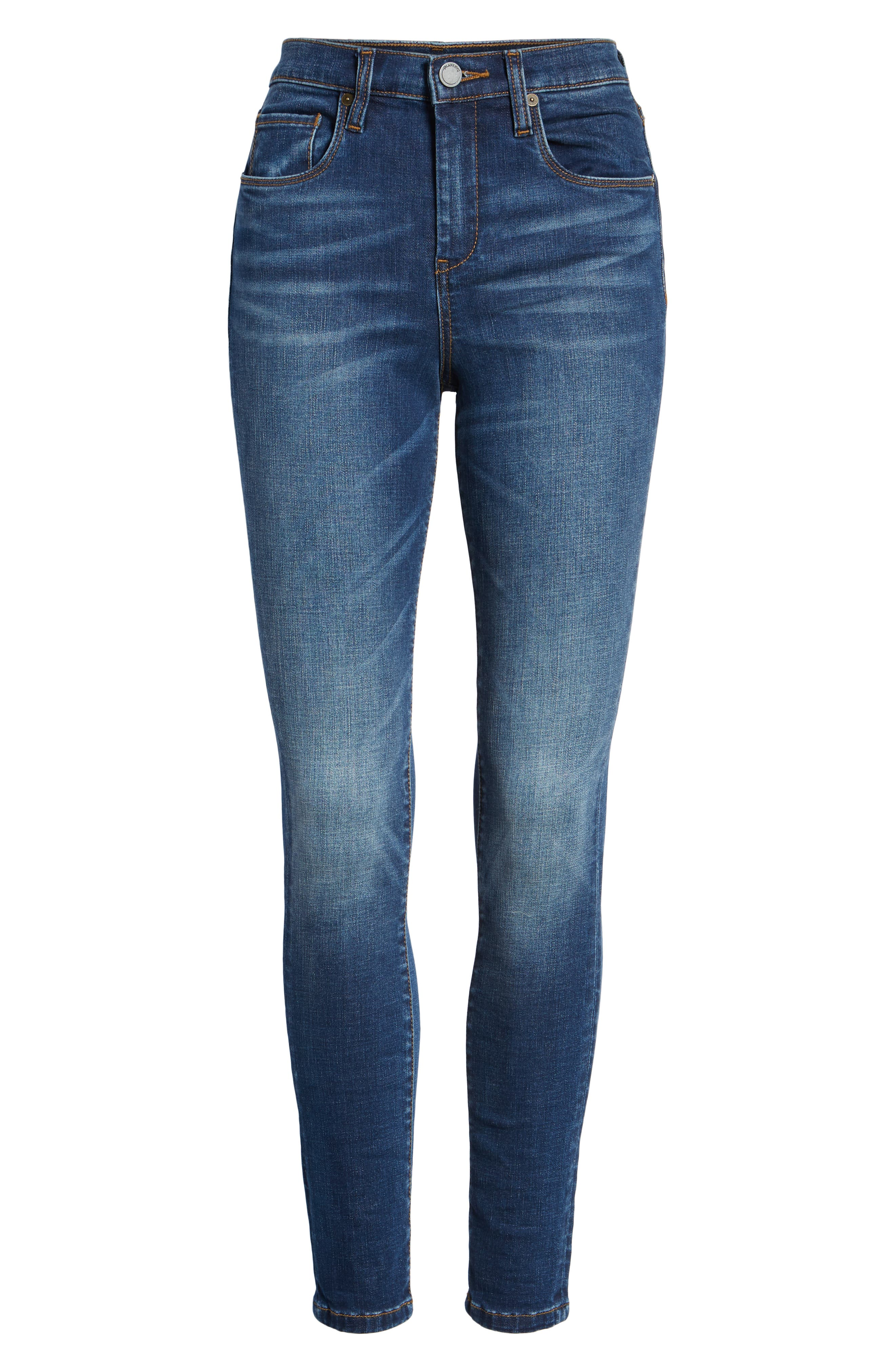 High Waist Skinny Jeans,                             Alternate thumbnail 7, color,                             ROUGH RIDER