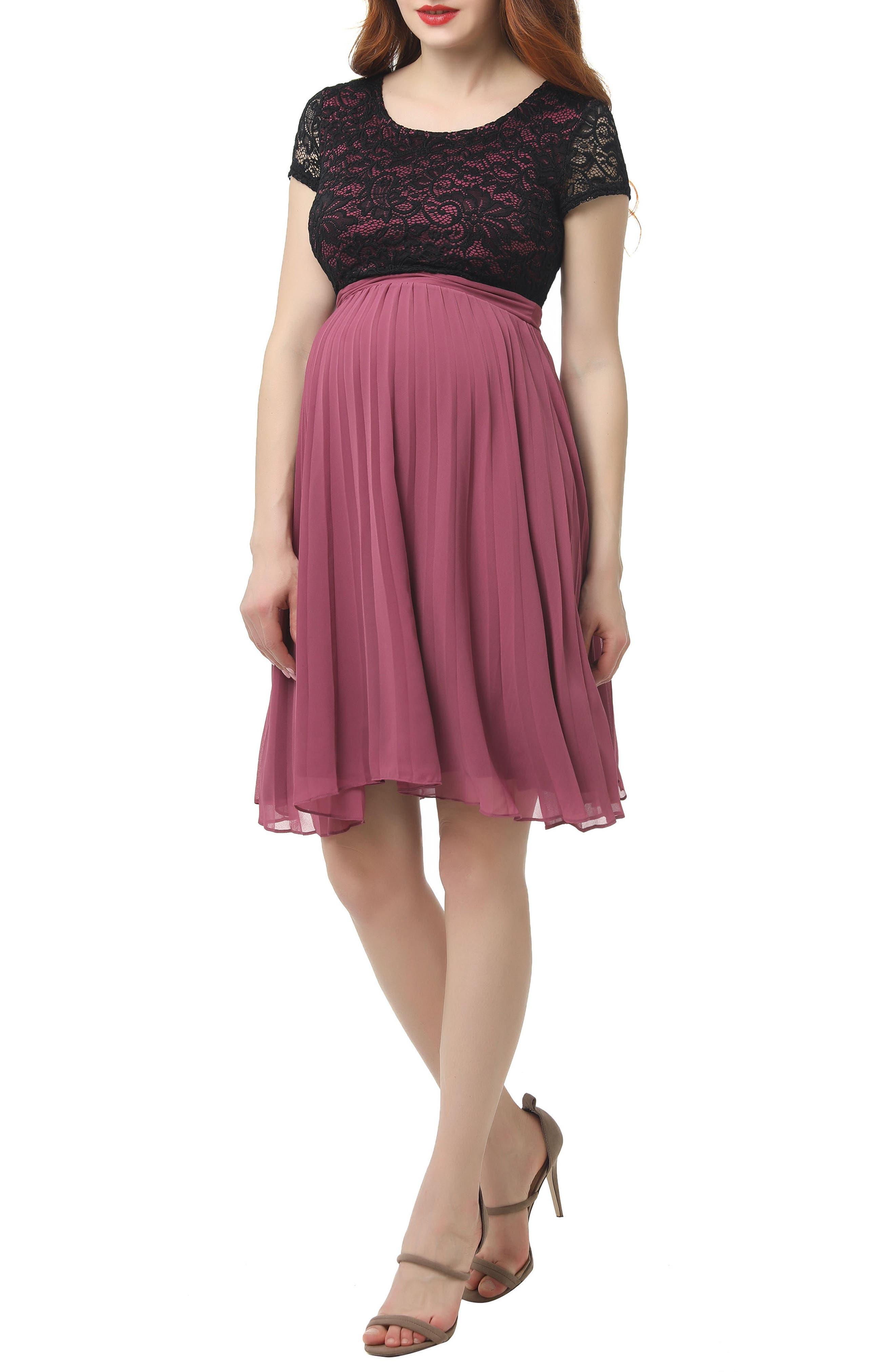 Tanya Maternity Babydoll Dress, Main, color, ROSE