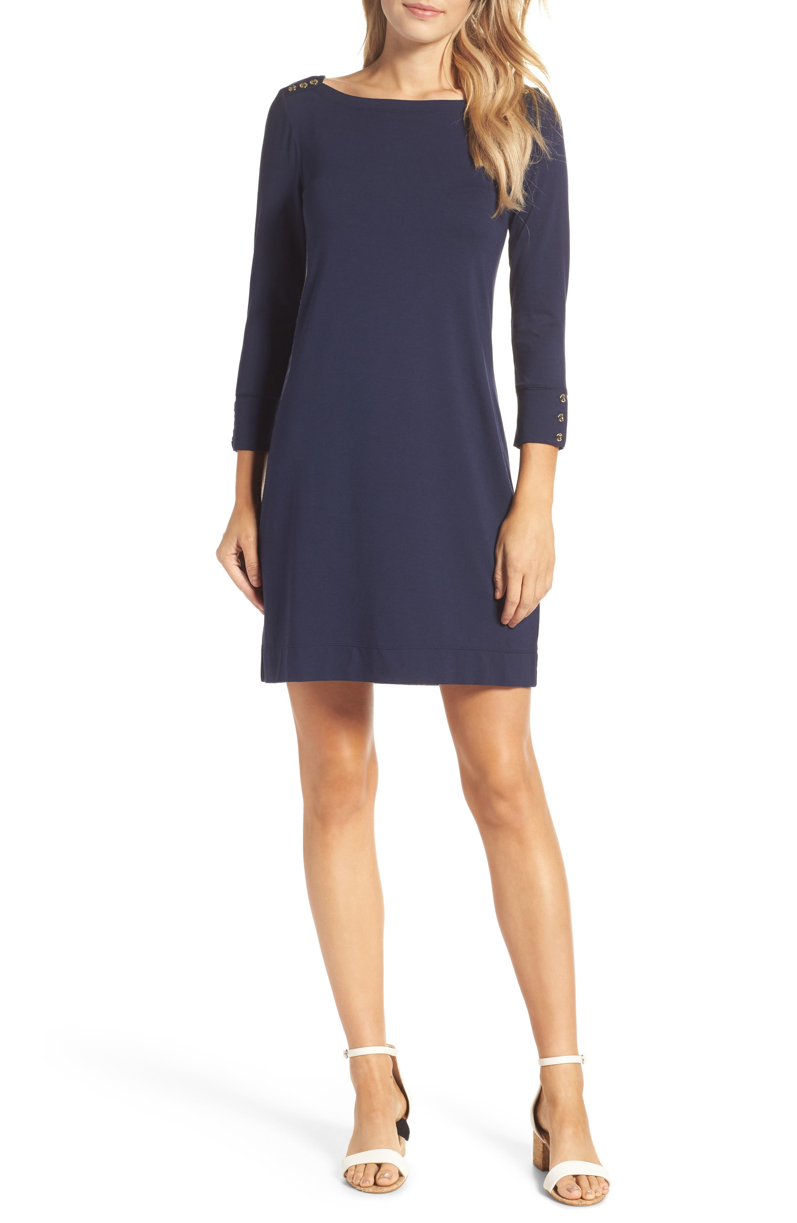LILLY PULITZER<SUP>®</SUP>,                             Sophie UPF 50+ Dress,                             Main thumbnail 1, color,                             TRUE NAVY