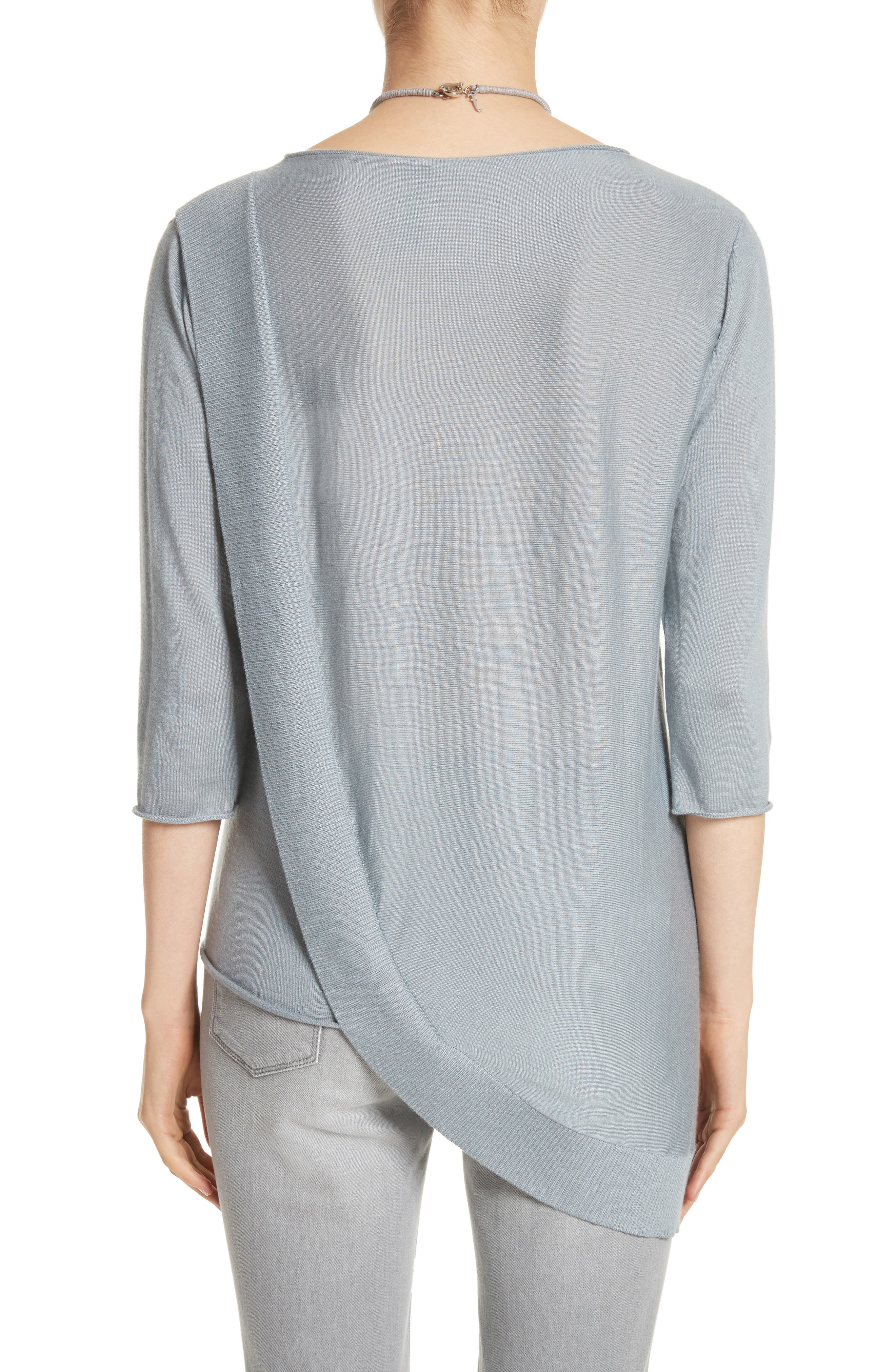 Cashmere & Silk Drape Sweater,                             Alternate thumbnail 2, color,                             400