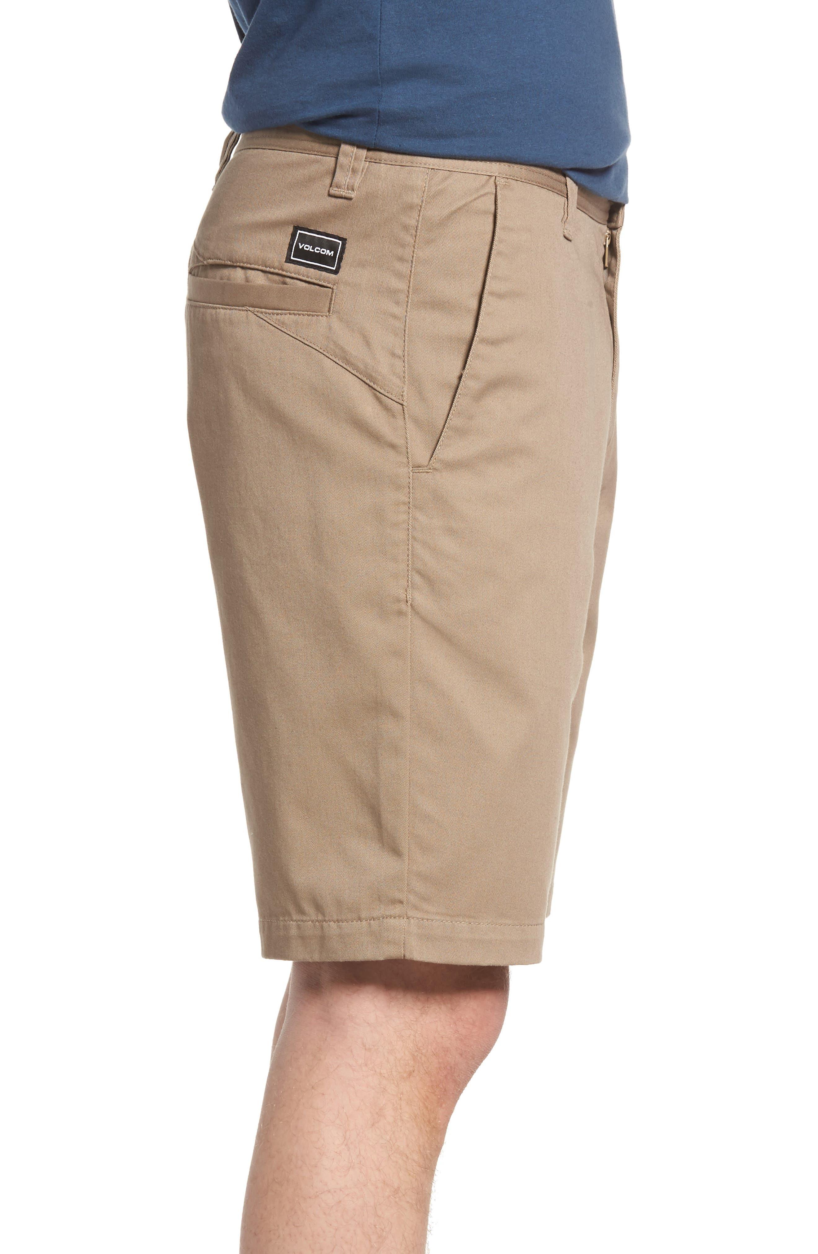 Modern Chino Shorts,                             Alternate thumbnail 3, color,                             KHAKI