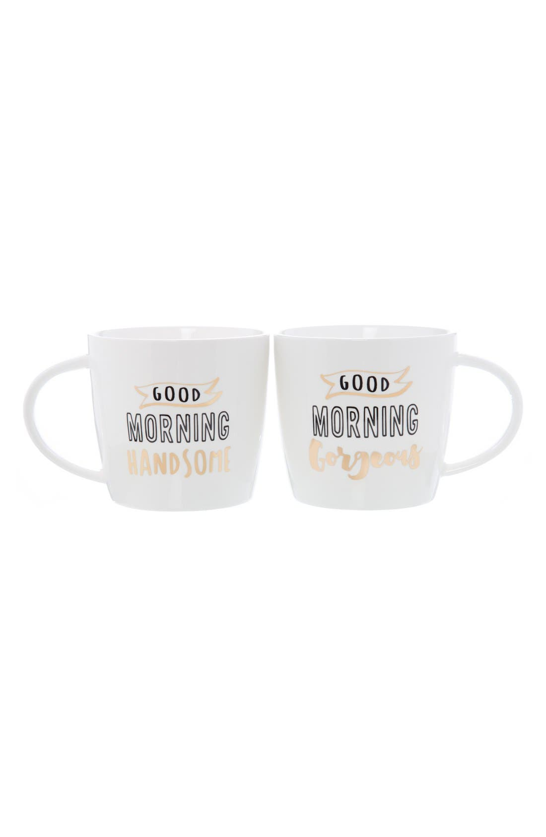 'Good Morning' Ceramic Coffee Mugs,                             Main thumbnail 1, color,                             100
