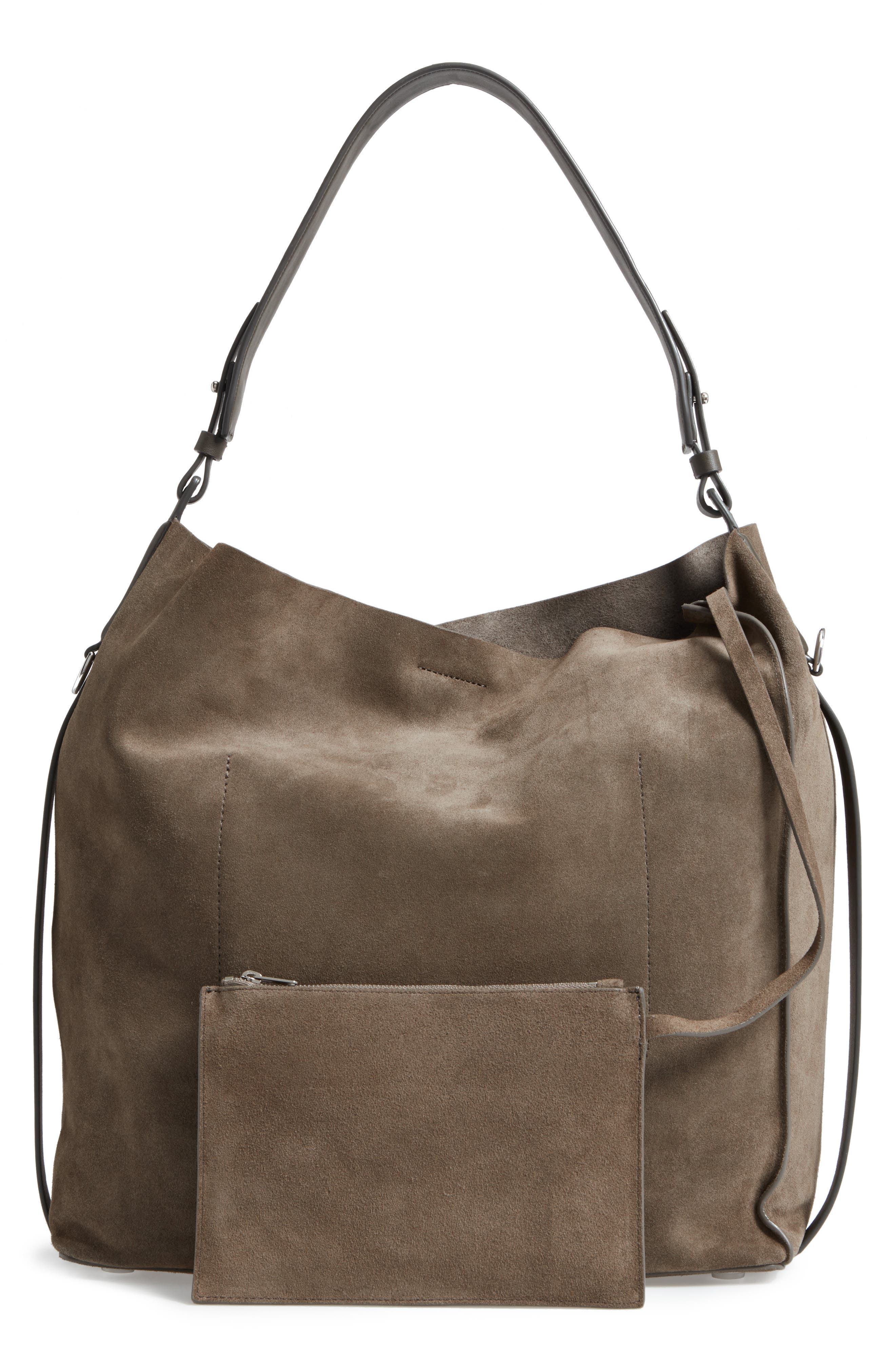 'Paradise - North/South' Suede Tote,                             Alternate thumbnail 3, color,                             024