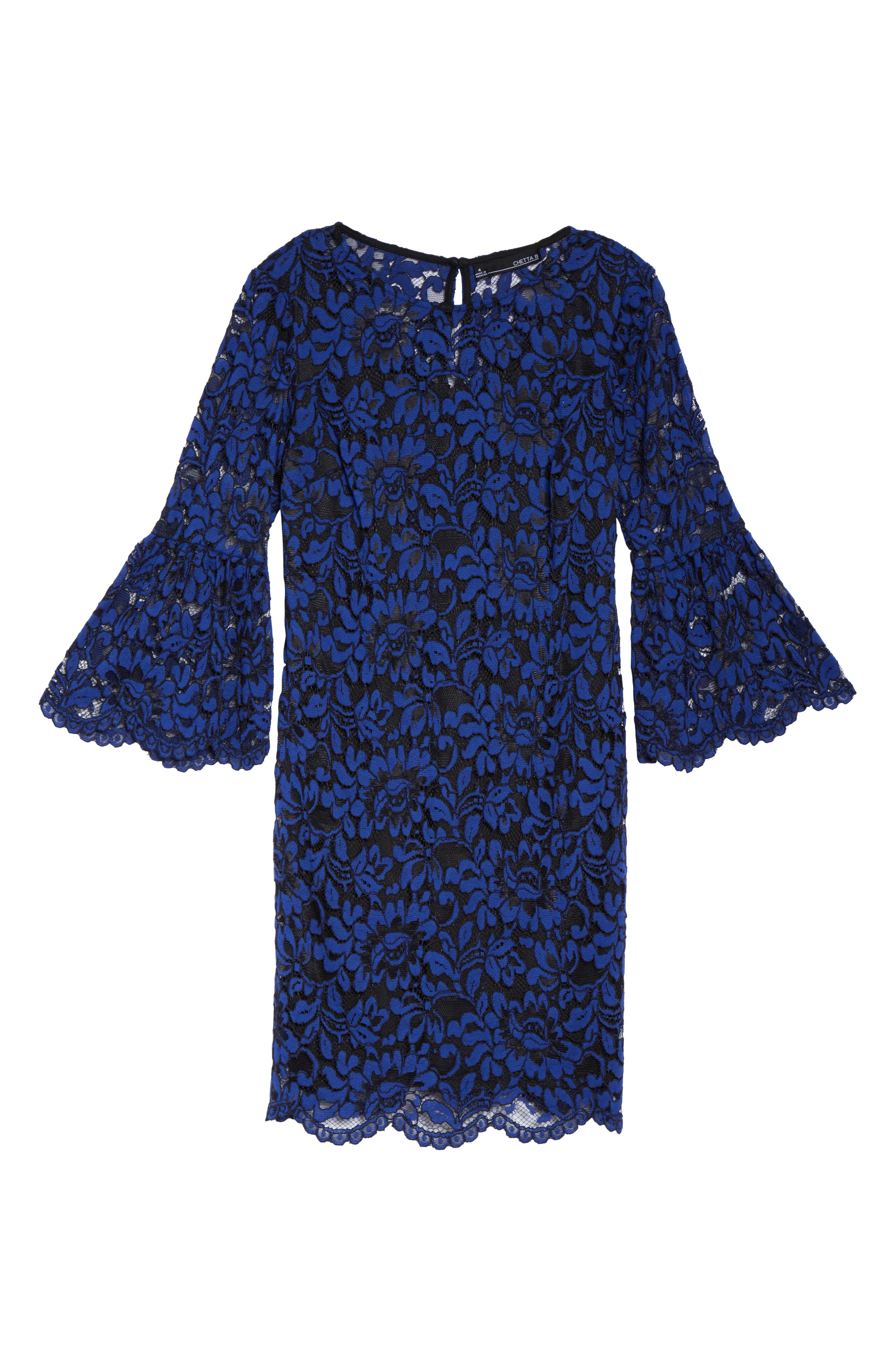 Bell Sleeve Lace Dress,                             Alternate thumbnail 6, color,                             492