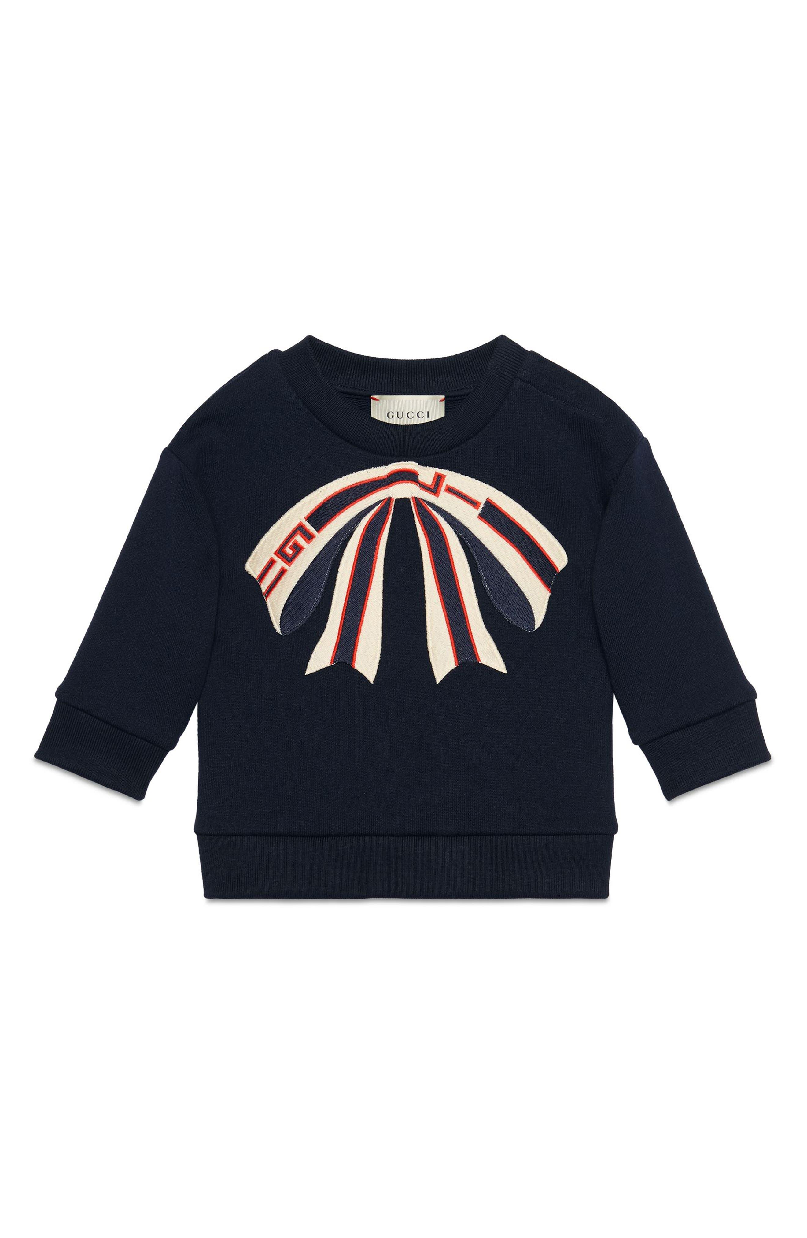 Bow Appliqué Sweatshirt, Main, color, 484