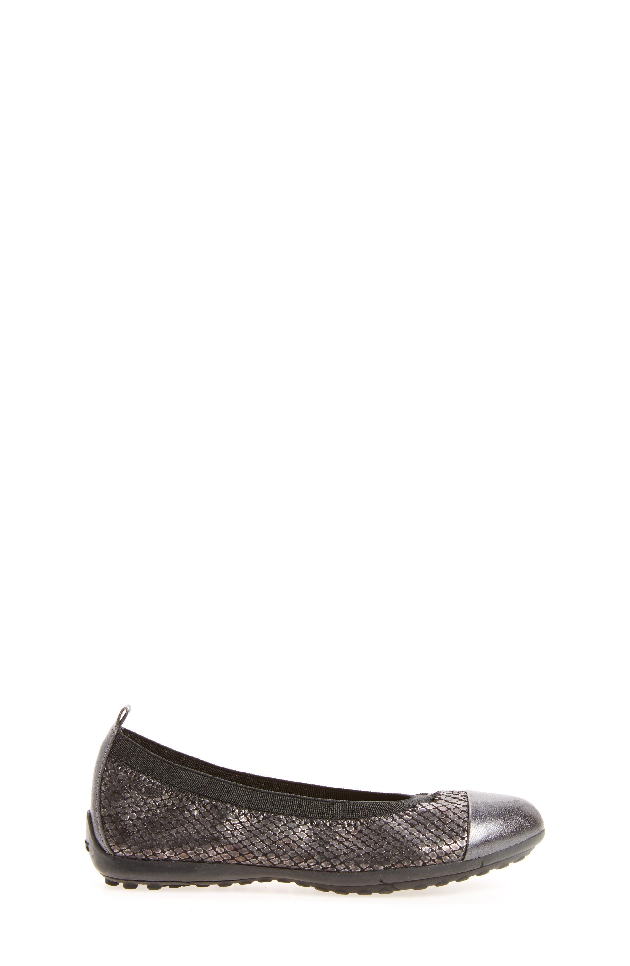 Jr Piuma Cap Toe Ballerina Flat,                             Alternate thumbnail 9, color,