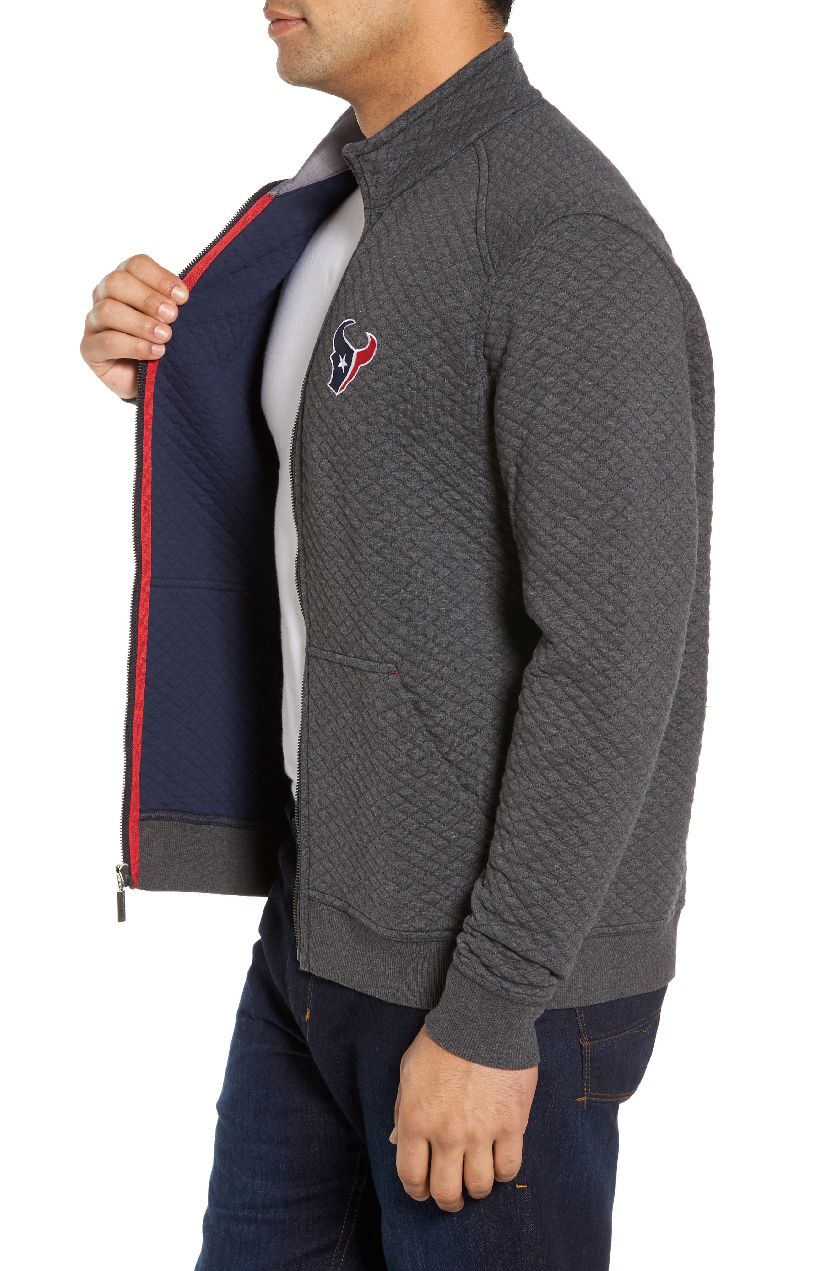 NFL Quiltessential Full Zip Sweatshirt,                             Alternate thumbnail 91, color,