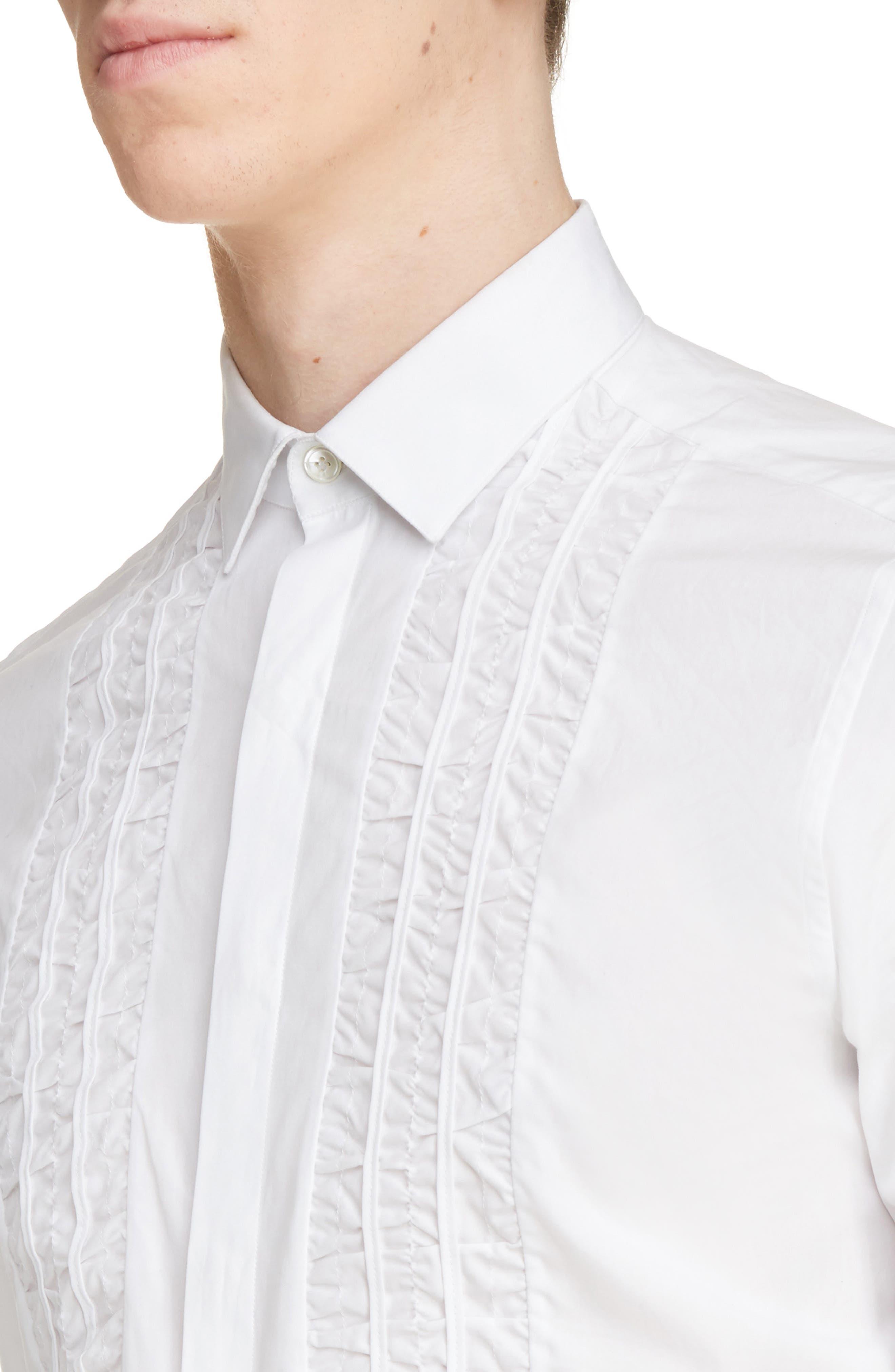 Ruffle Tuxedo Shirt,                             Alternate thumbnail 5, color,