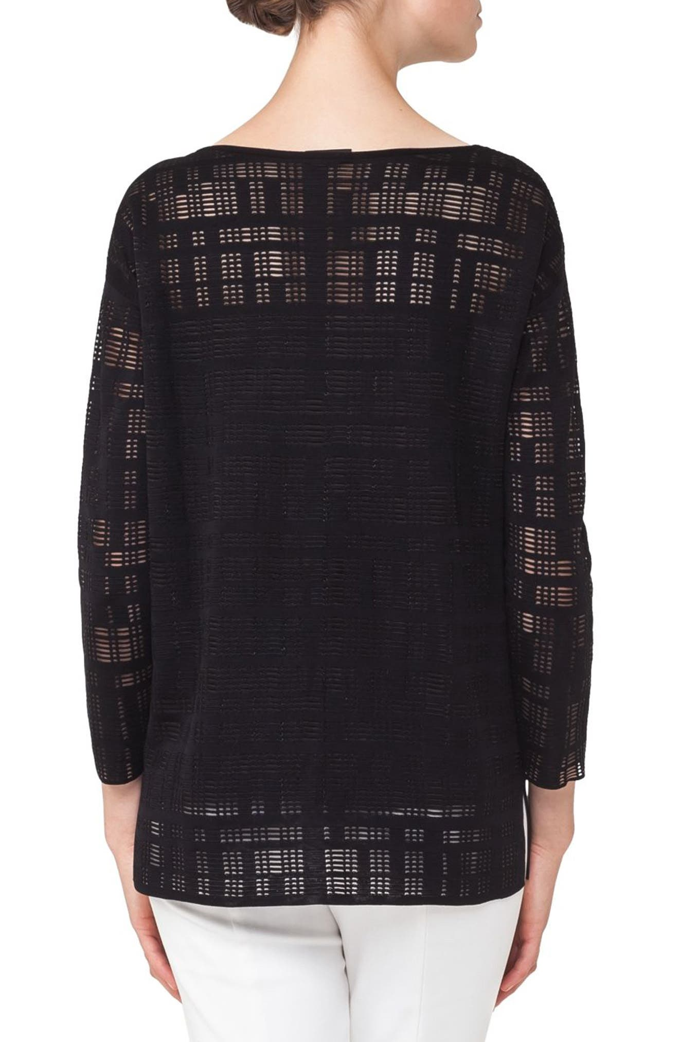 Square Embroidered Silk Blend Tunic,                             Alternate thumbnail 2, color,                             009